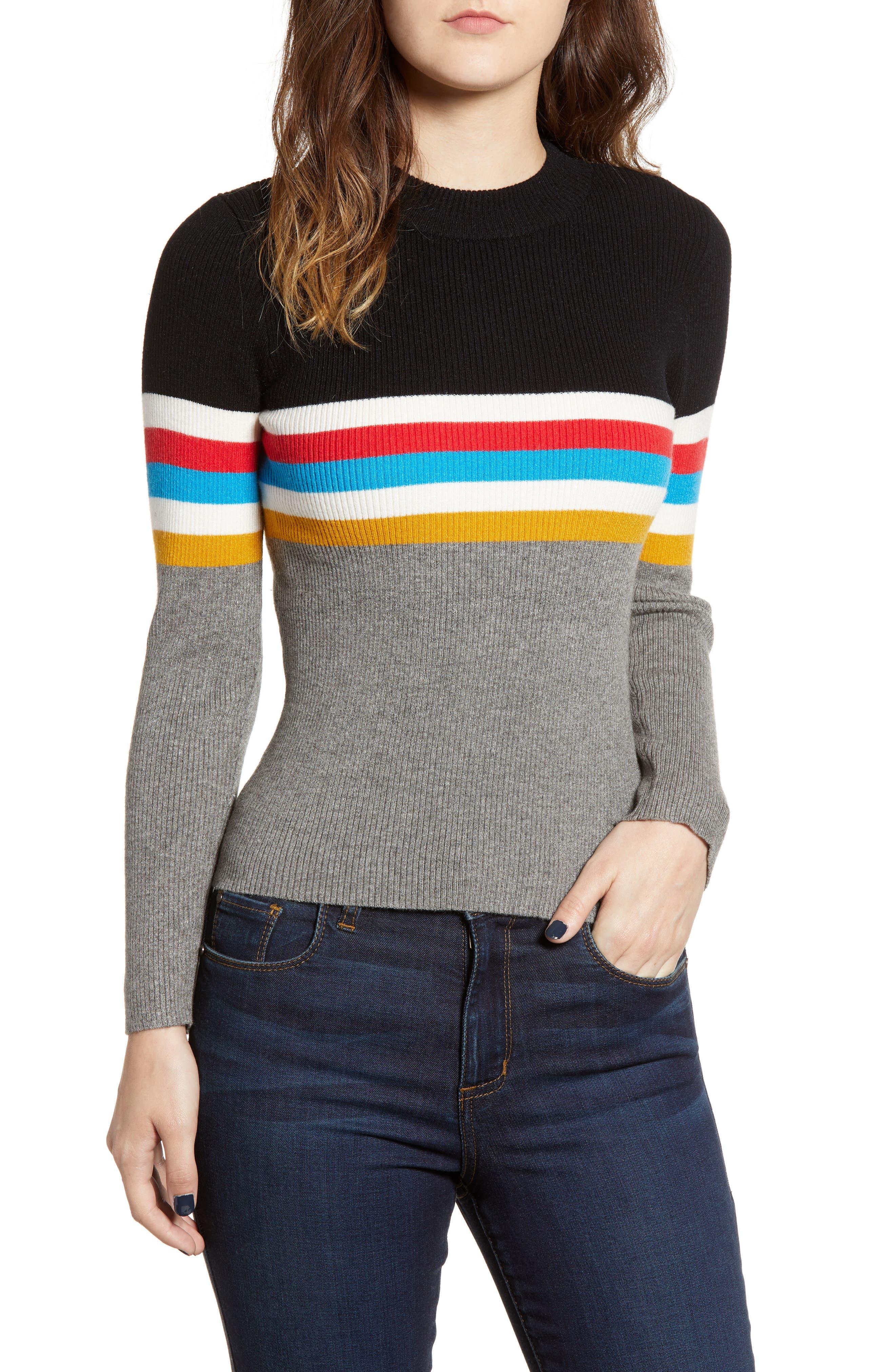Stripe Sweater,                         Main,                         color, 038