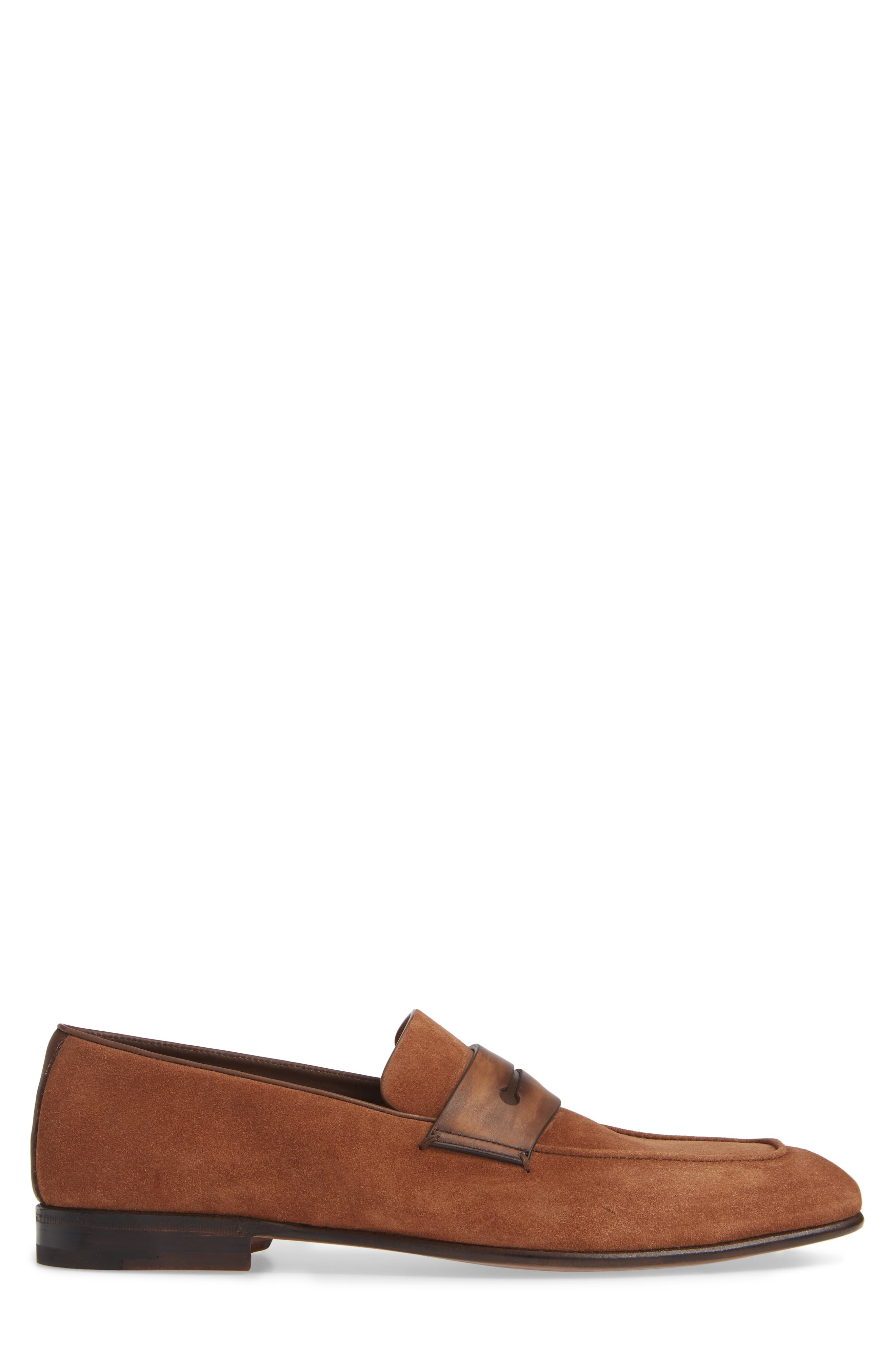 Penny Loafer,                             Alternate thumbnail 3, color,                             BROWN/BROWN