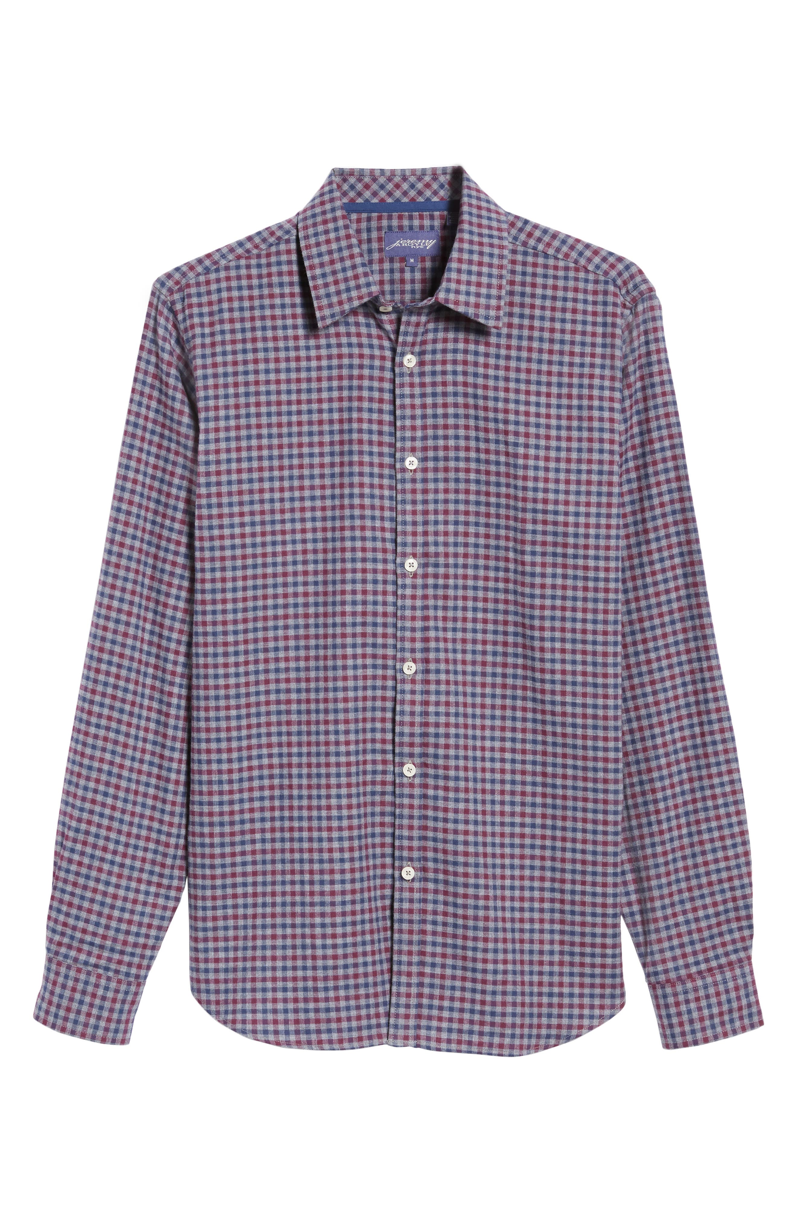 Slim Fit Check Sport Shirt,                             Alternate thumbnail 6, color,                             024