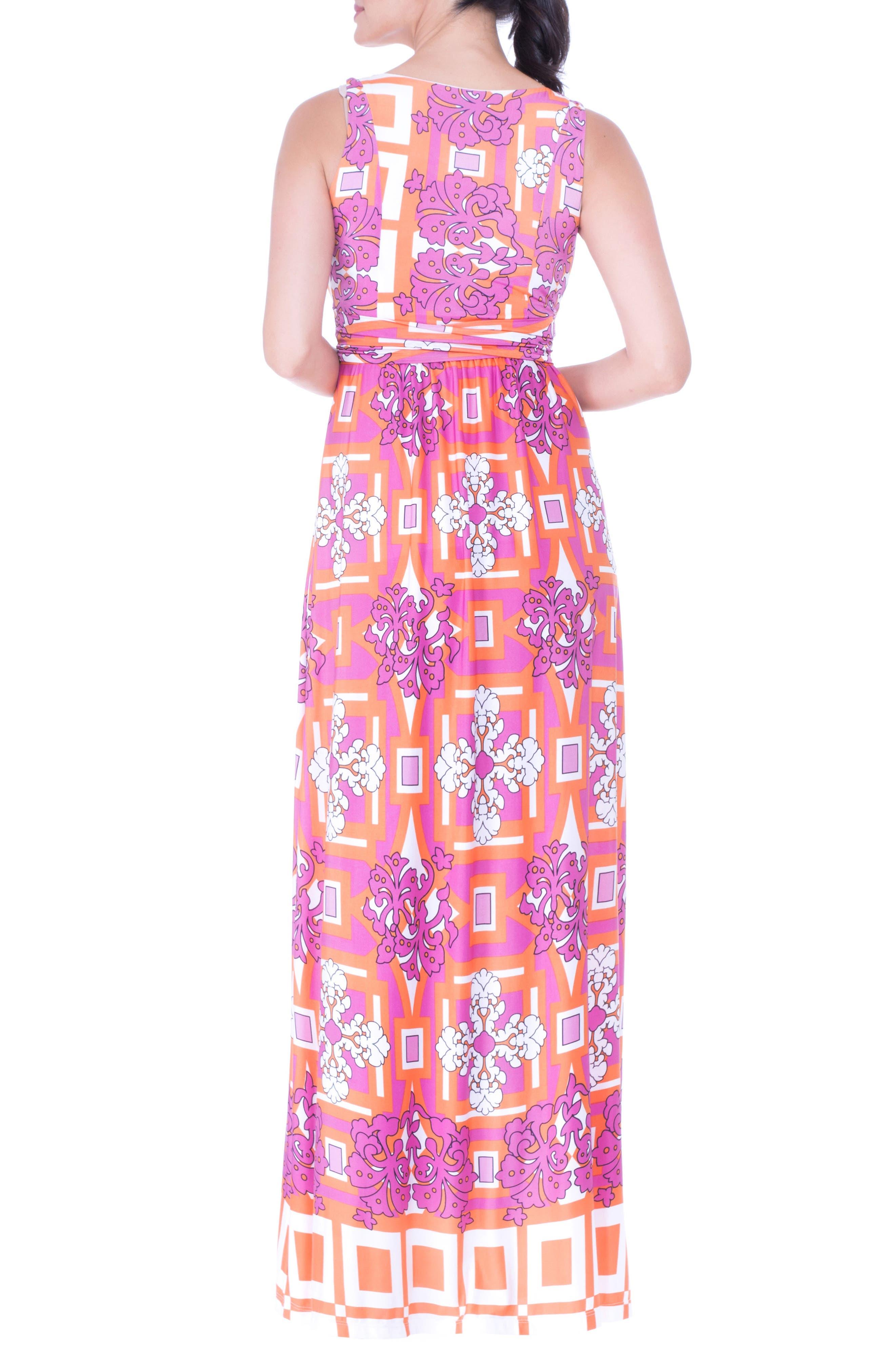 Print Maternity Maxi Dress,                             Alternate thumbnail 2, color,