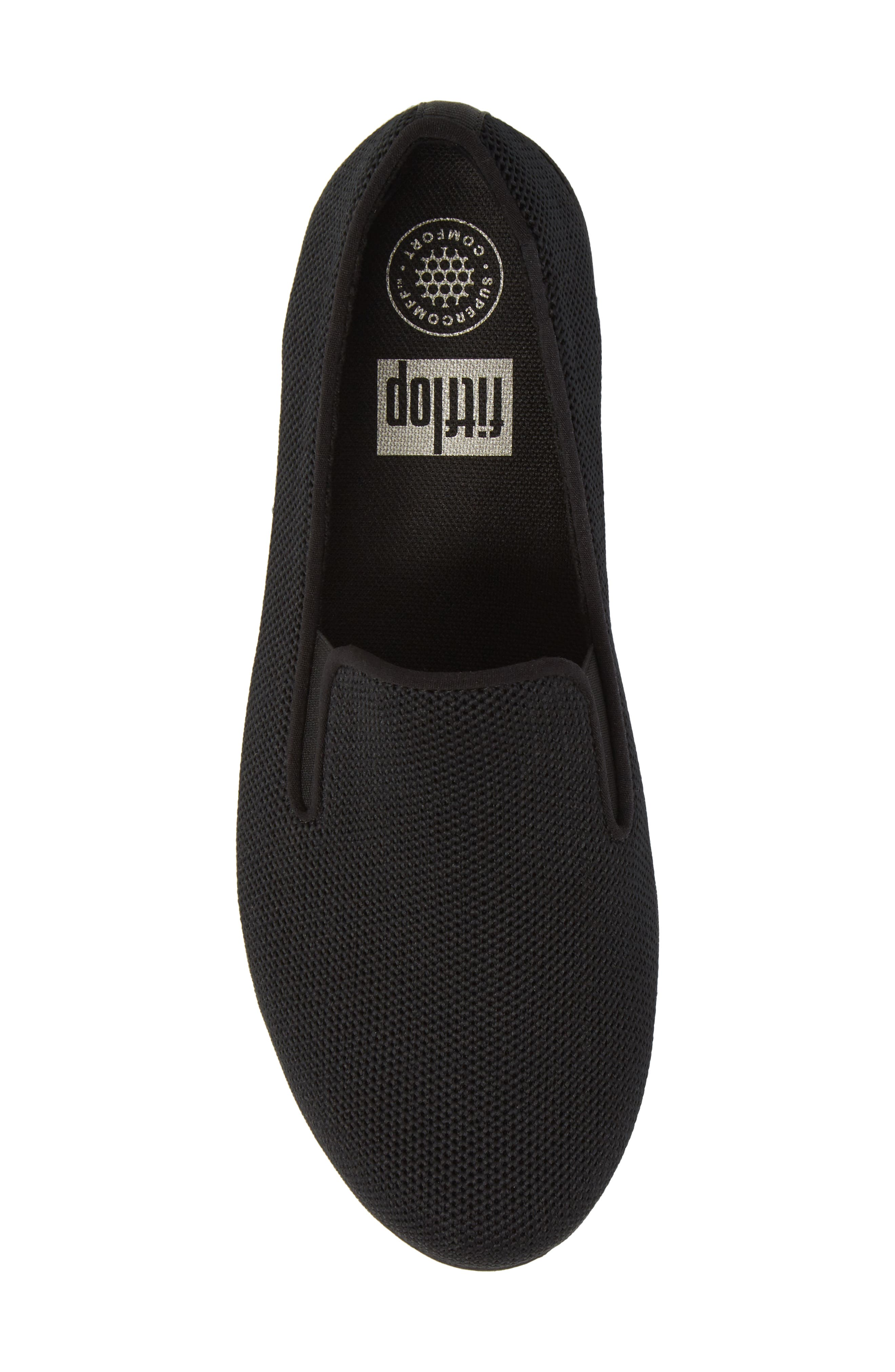 FITFLOP,                             Superskate<sup>™</sup> Überknit<sup>™</sup> Loafer,                             Alternate thumbnail 5, color,                             ALL BLACK