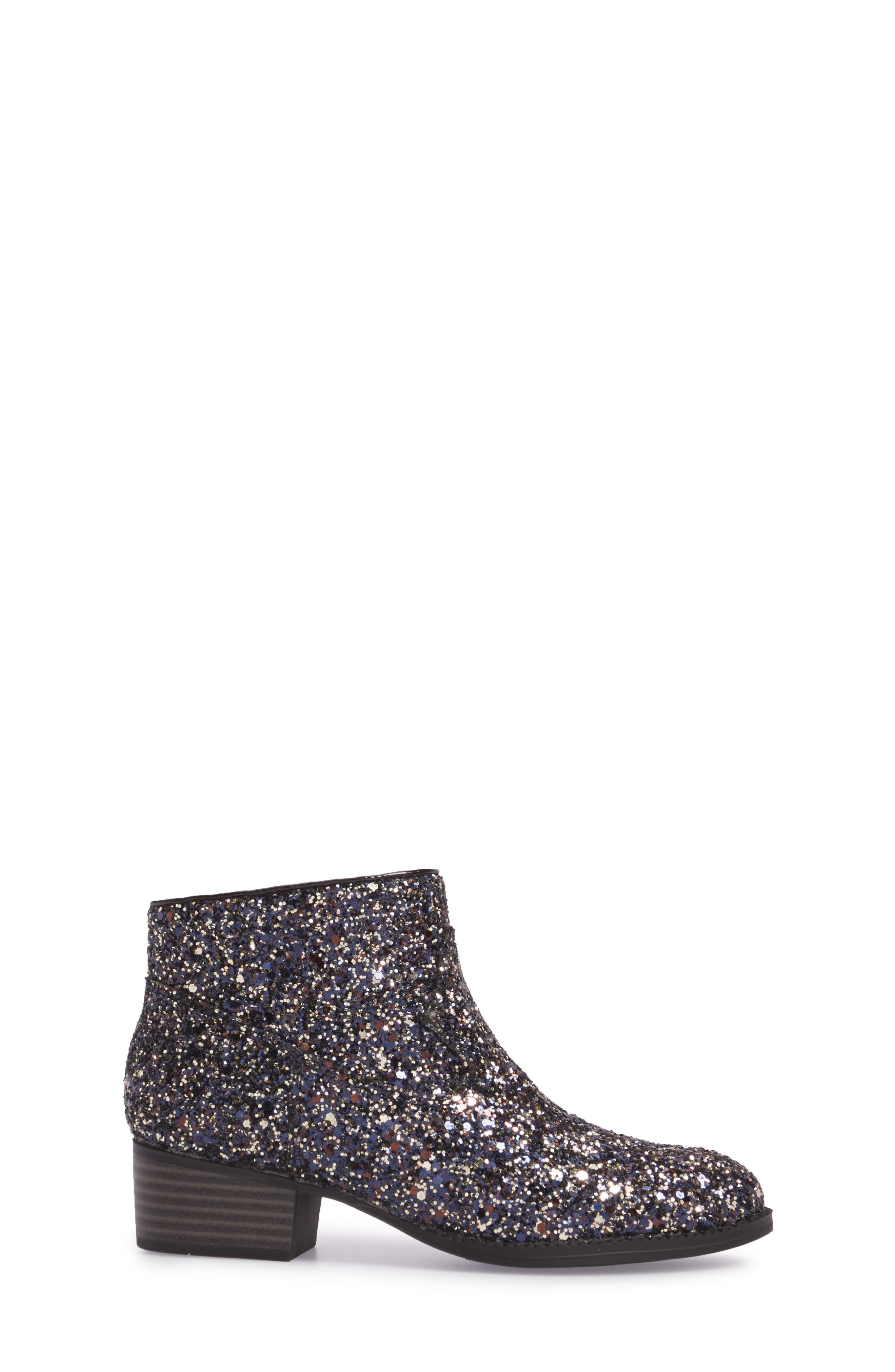 Jaclyn Glitter Bootie,                             Alternate thumbnail 3, color,                             002