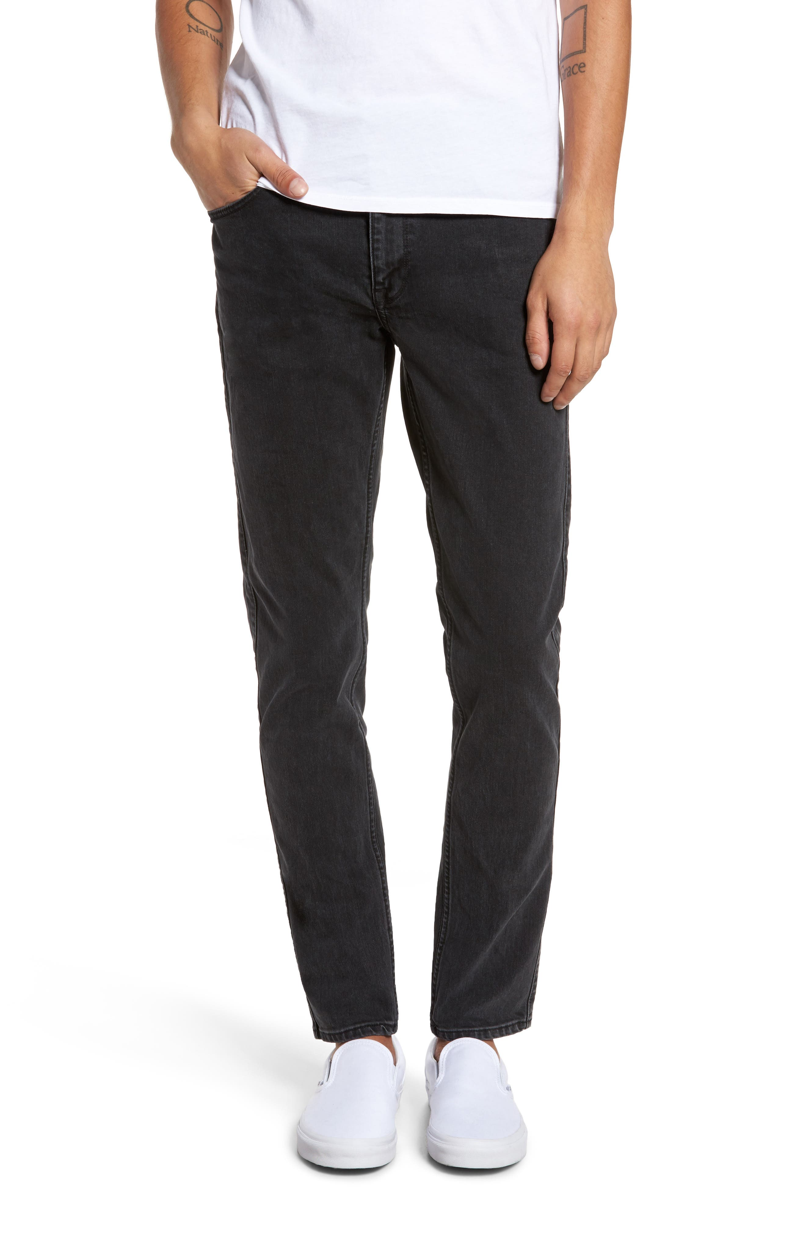 Clark Slim Straight Leg Jeans,                             Main thumbnail 1, color,                             001