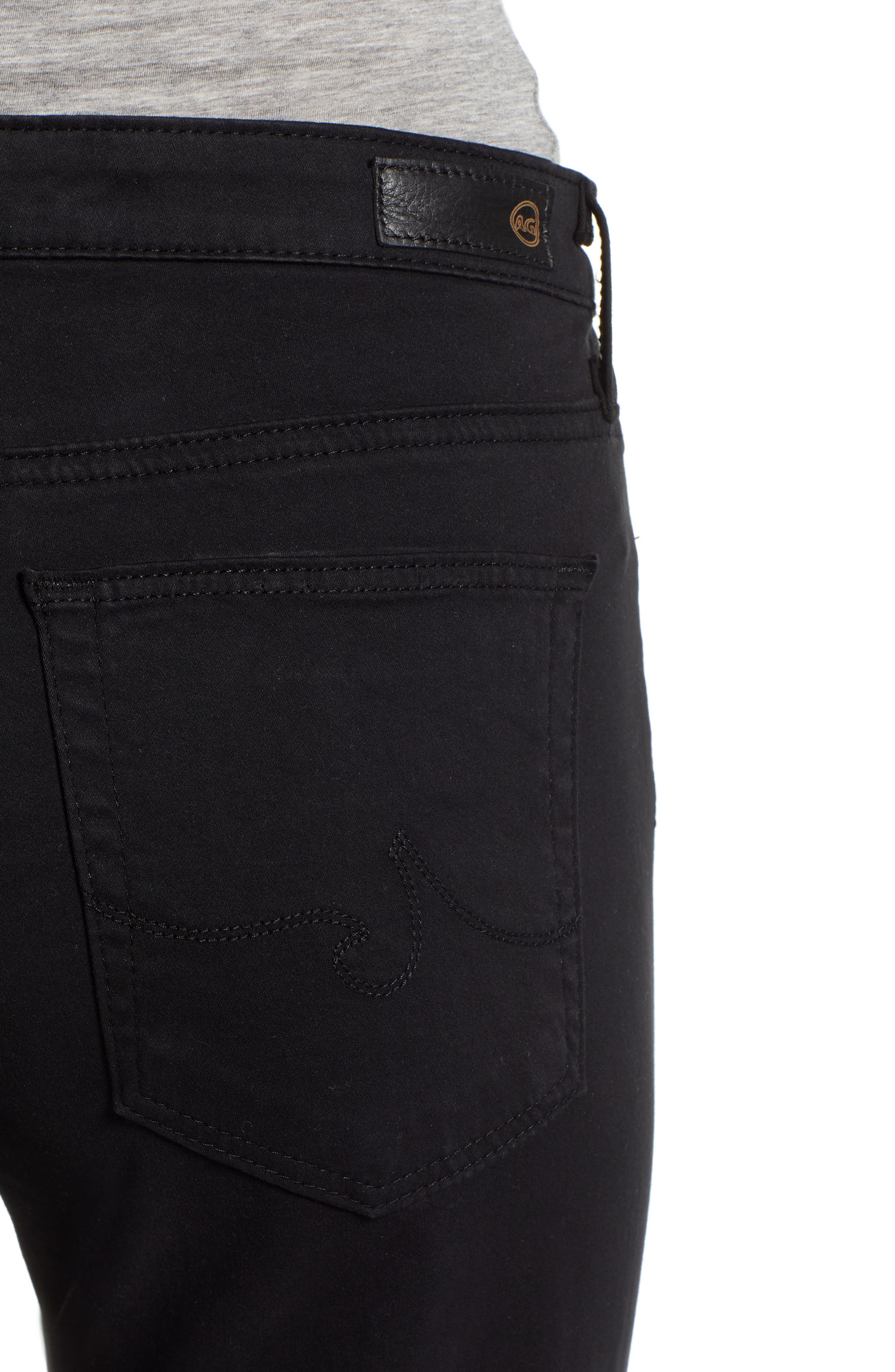 The Prima Crop Cigarette Jeans,                             Alternate thumbnail 4, color,                             010