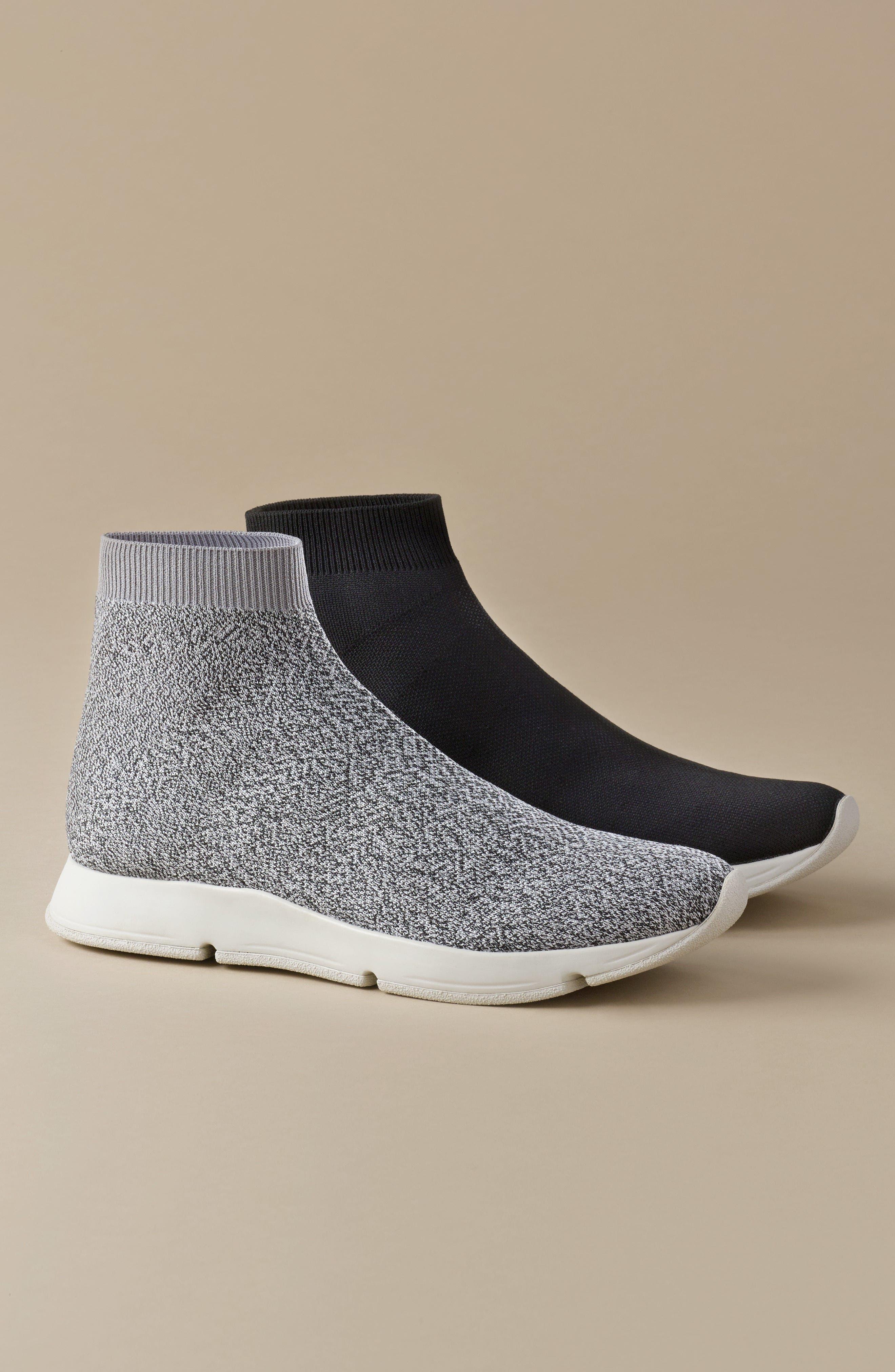 Tyra Sock Sneaker,                             Alternate thumbnail 7, color,                             001
