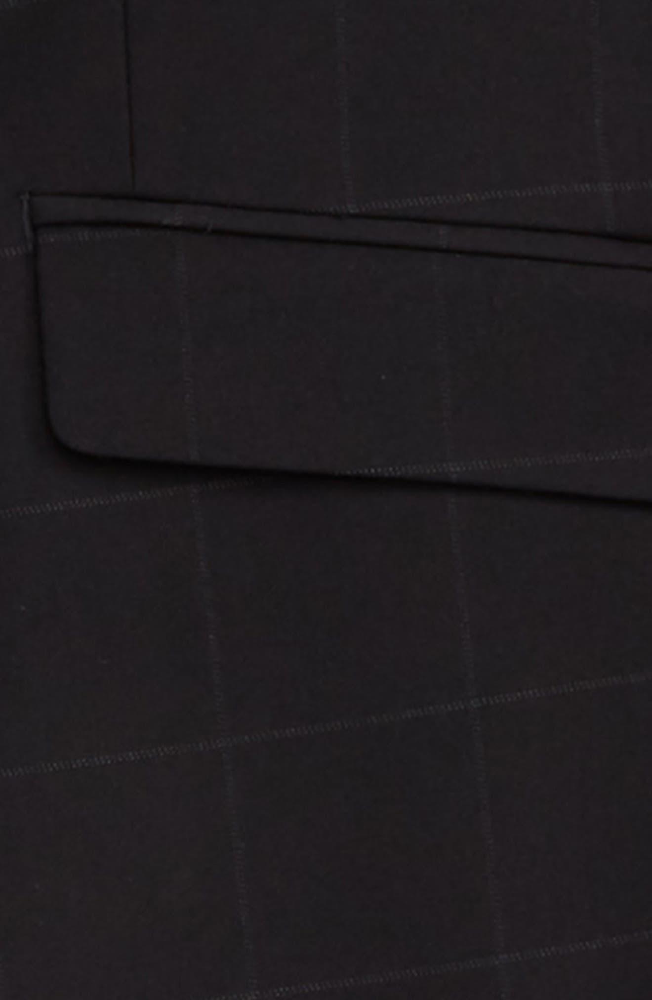 Windowpane Suit,                             Alternate thumbnail 2, color,                             BLACK