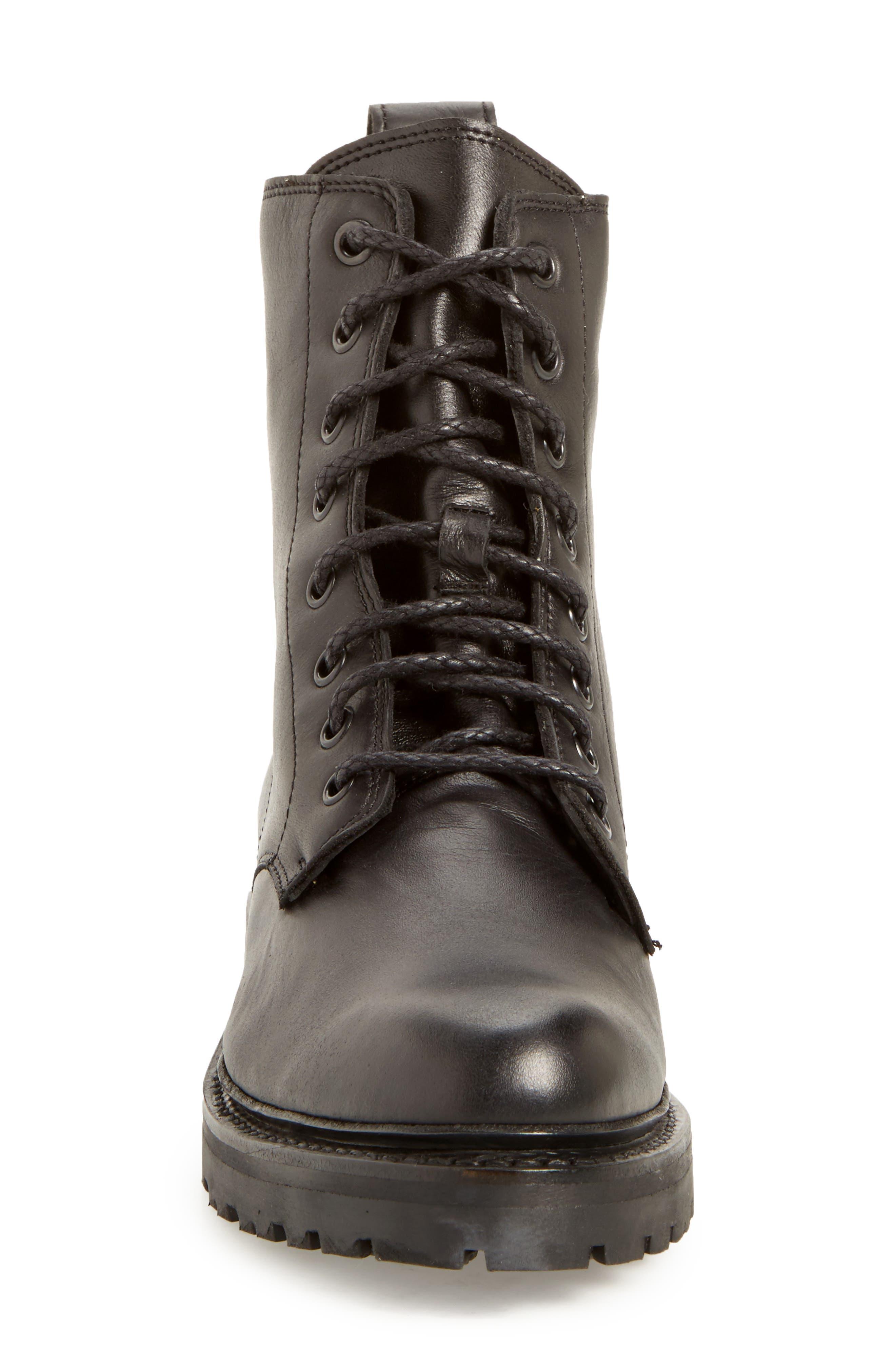 'Julie Combat' Boot,                             Alternate thumbnail 3, color,                             001
