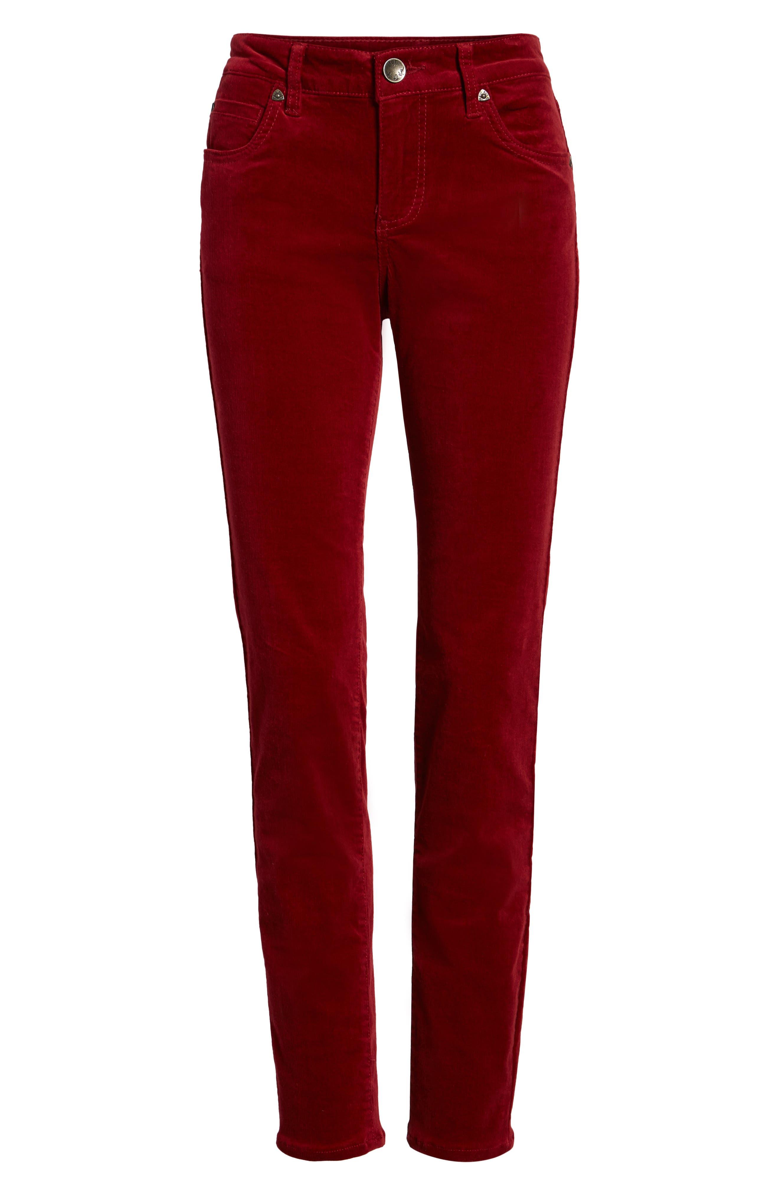 'Diana' Stretch Corduroy Skinny Pants,                             Alternate thumbnail 268, color,
