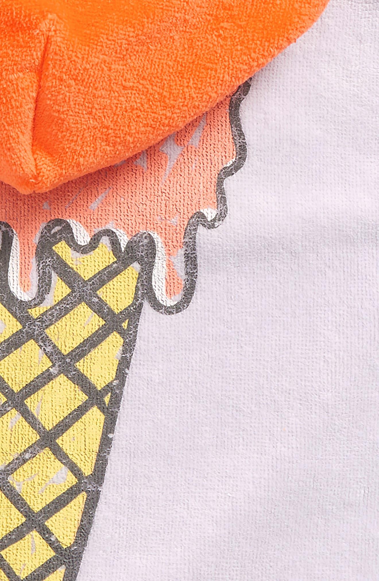 Kids Boho Ice Cream Hooded Beach Towel,                             Alternate thumbnail 2, color,