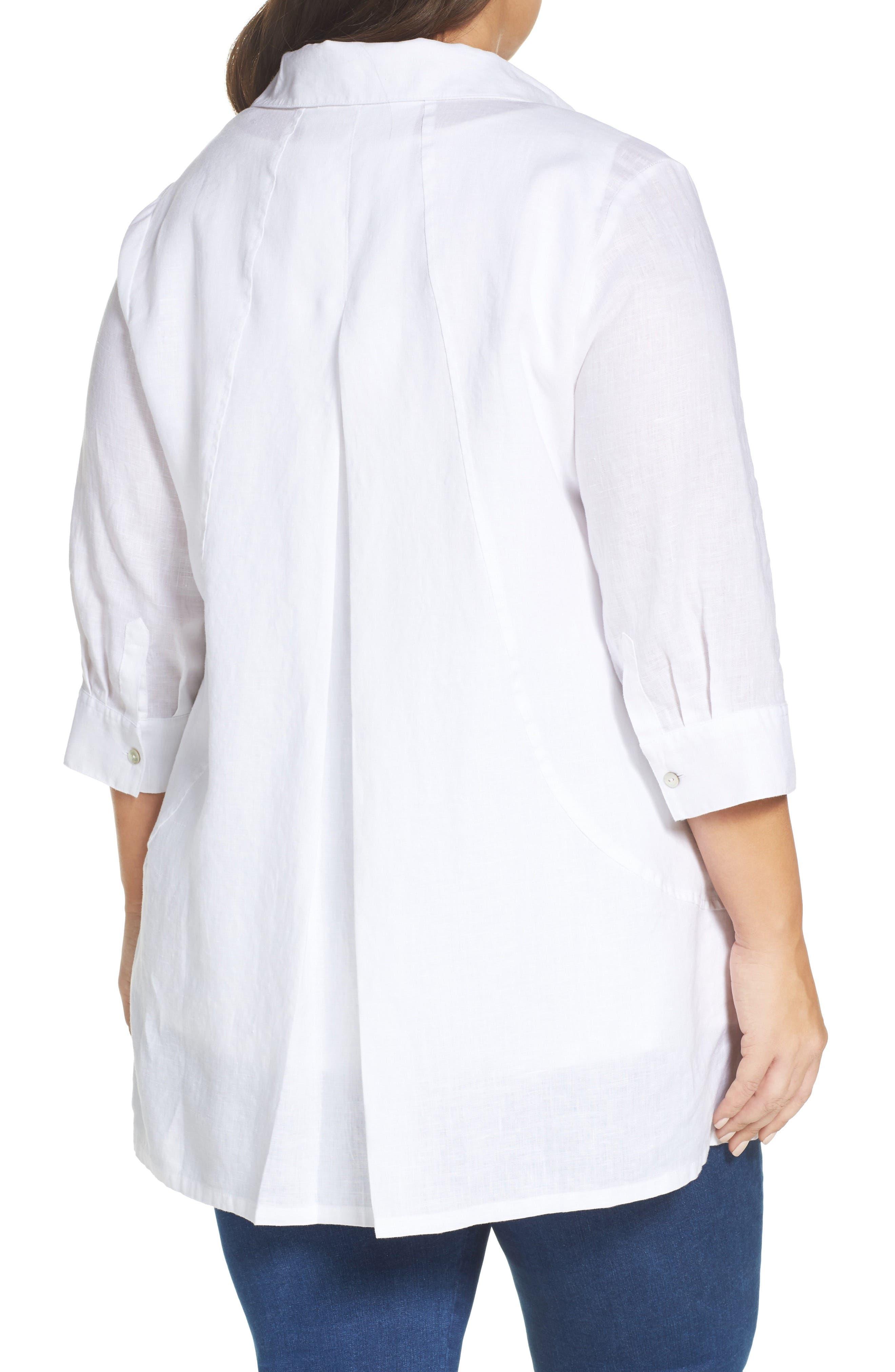 Skye Linen Tunic Shirt,                             Alternate thumbnail 2, color,                             100
