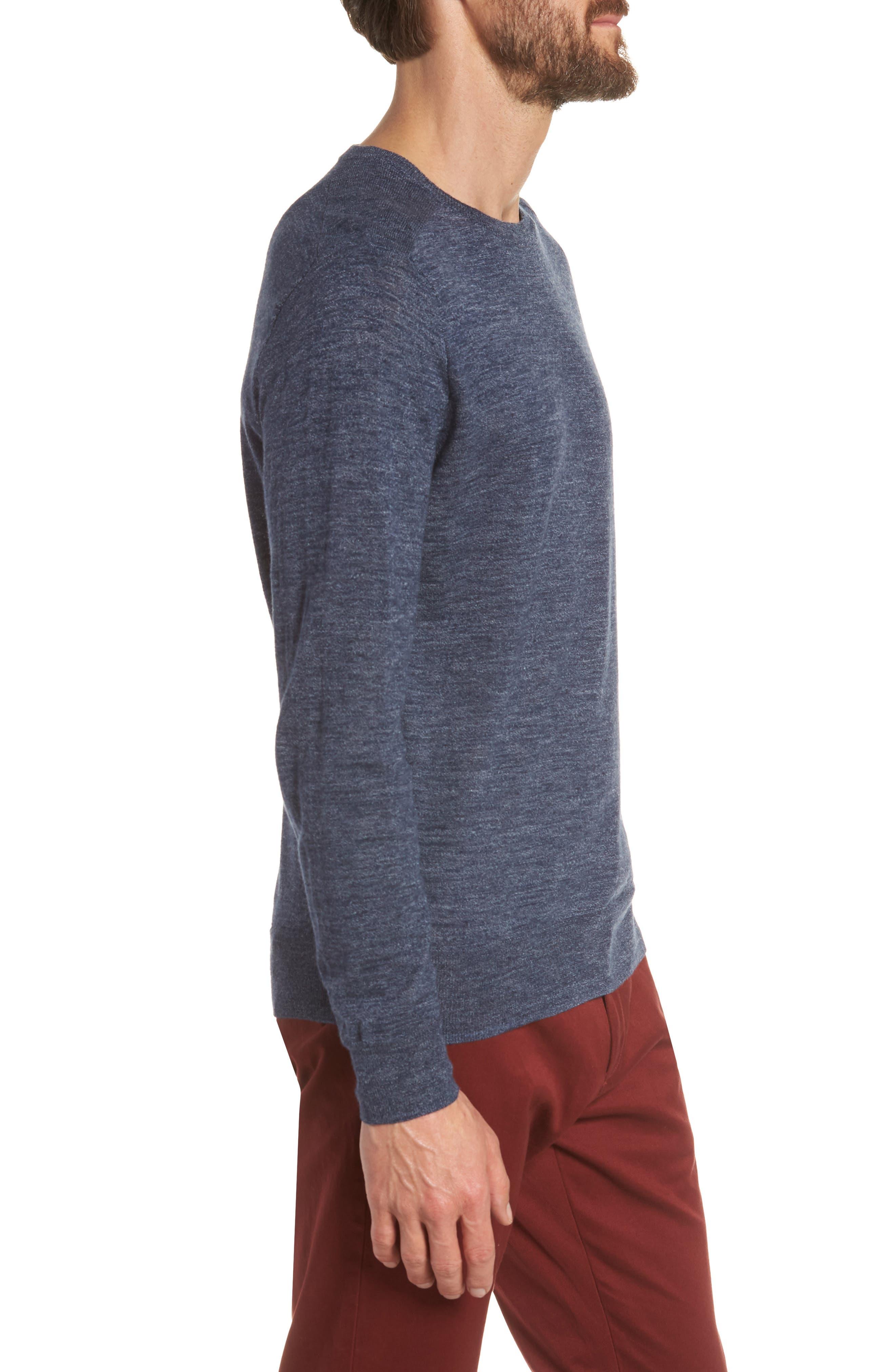 Cotton Blend Crewneck Sweater,                             Alternate thumbnail 11, color,