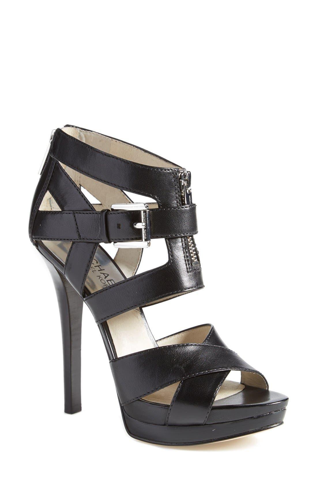 'Anya' Platform Sandal,                             Main thumbnail 1, color,                             001
