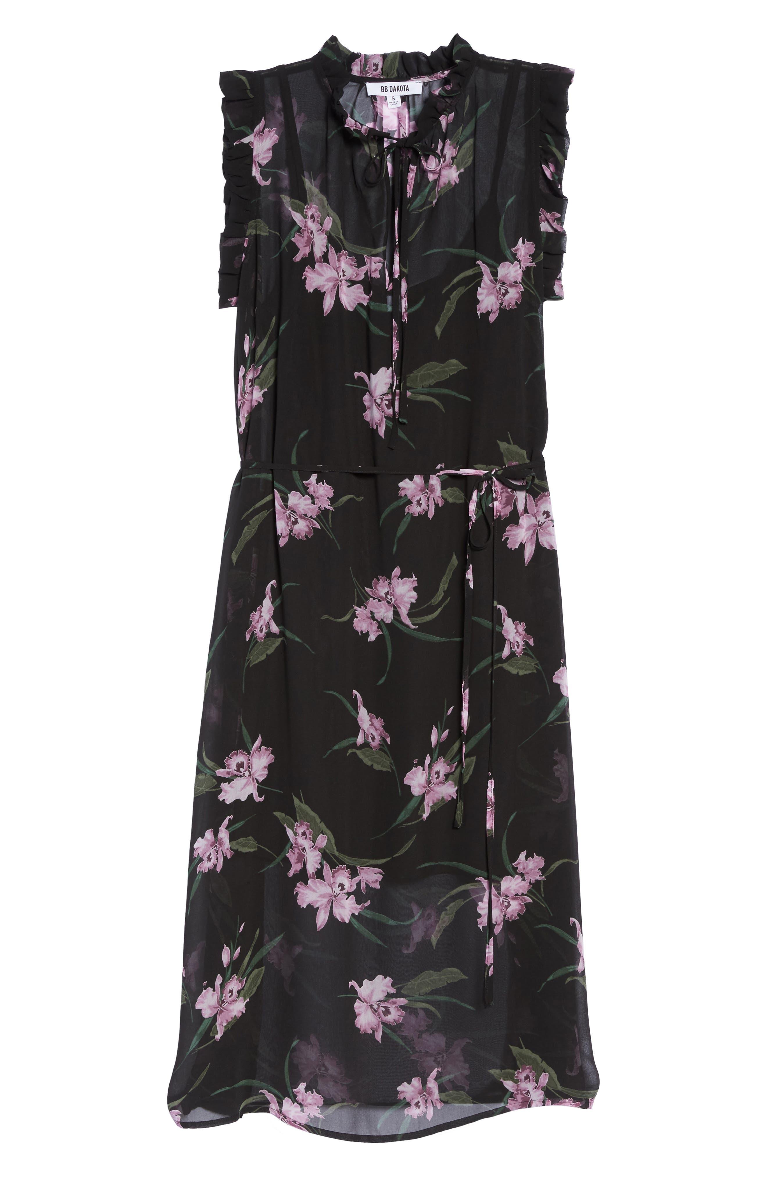 Sarah High Neck Dress,                             Alternate thumbnail 6, color,                             001