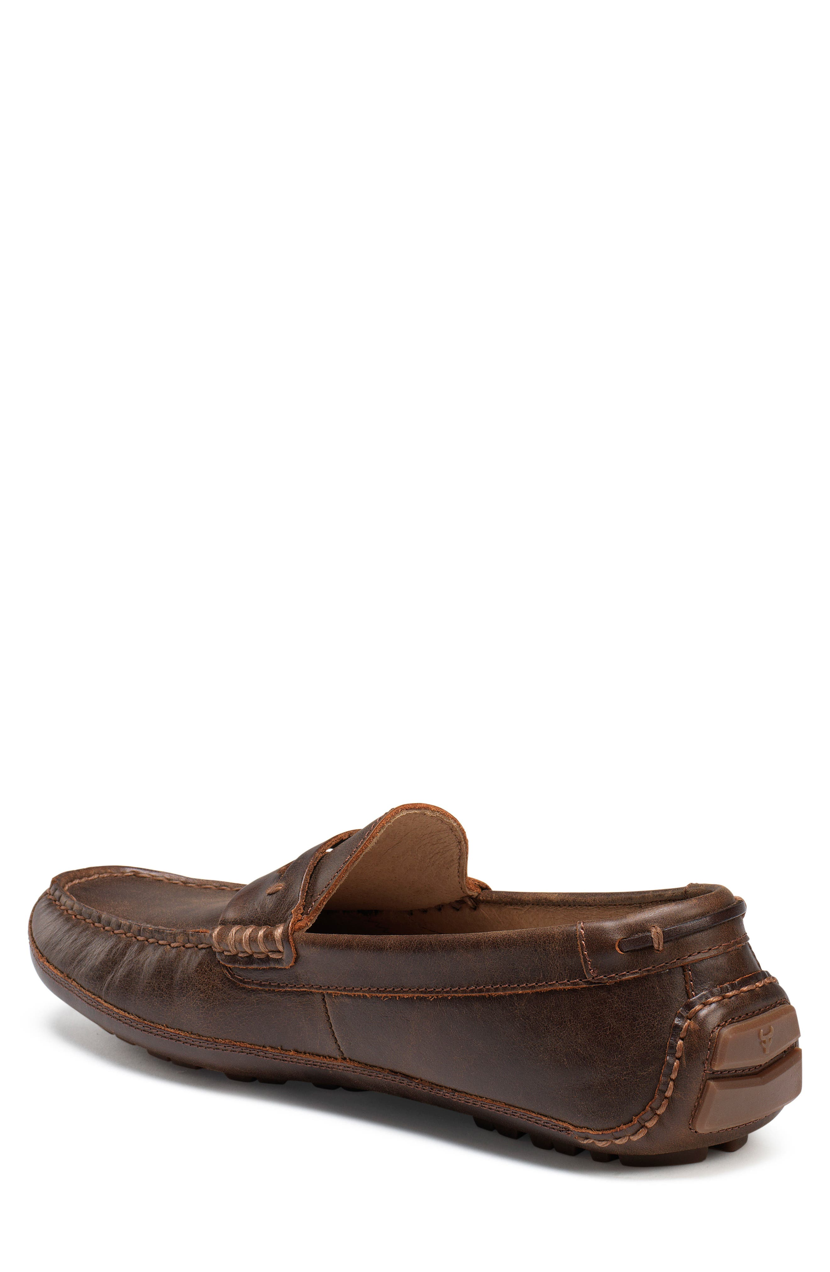Dawson Water Resistant Driving Loafer,                             Alternate thumbnail 2, color,                             DARK BROWN LEATHER