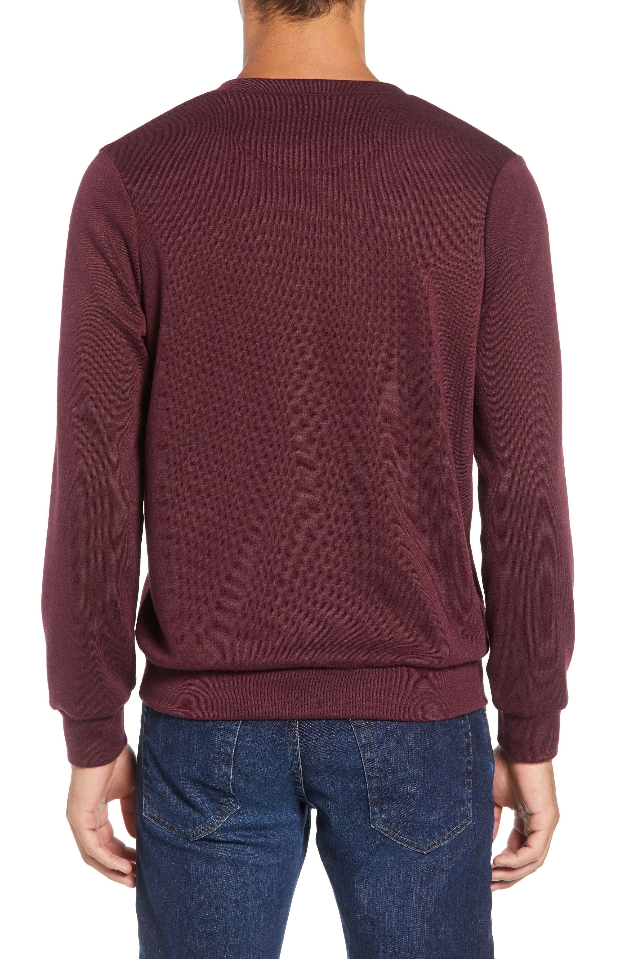Pomerelle V-Neck Performance Sweater,                             Alternate thumbnail 2, color,                             MERLOT
