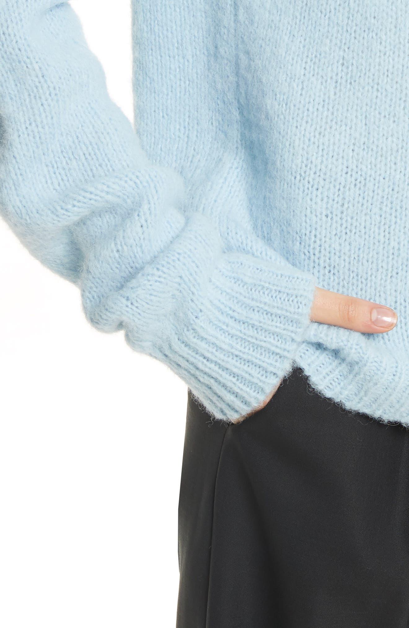 Cozette Easy Mock Neck Pullover,                             Alternate thumbnail 4, color,                             450