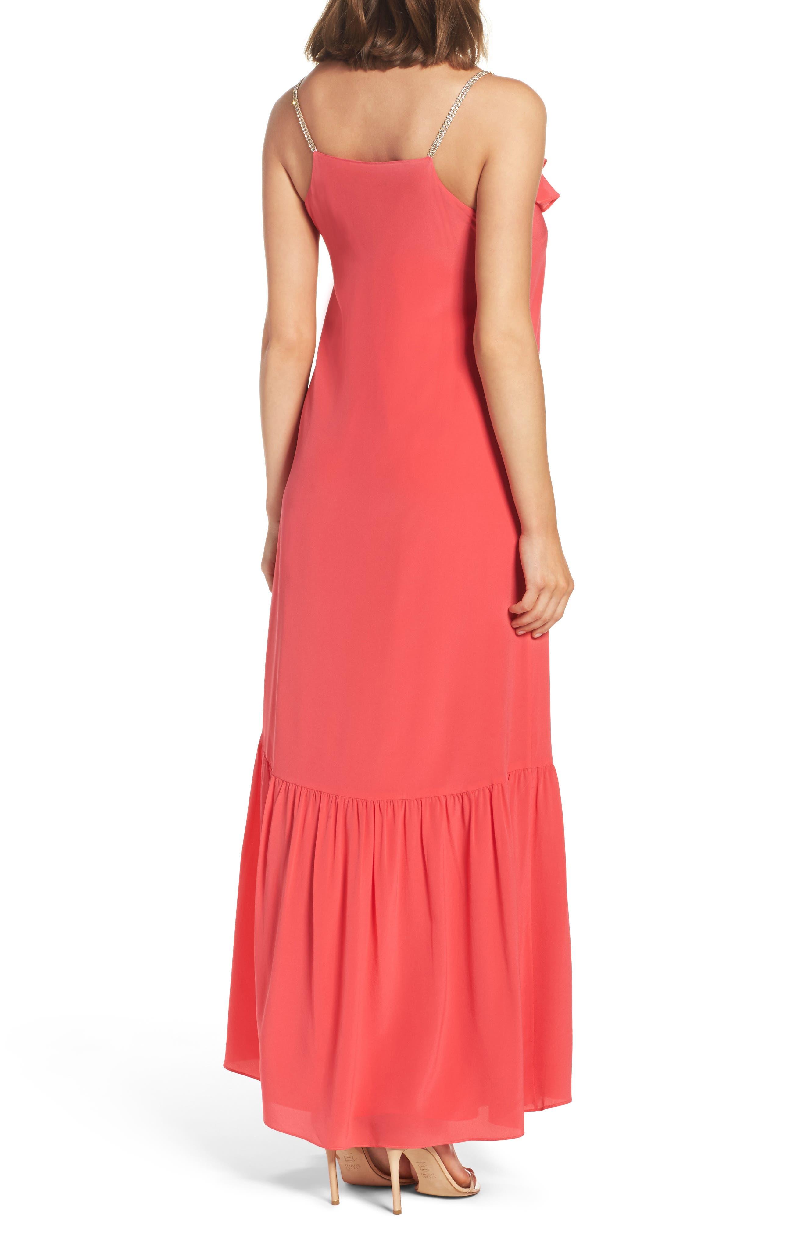 Ruffle Silk Maxi Dress,                             Alternate thumbnail 2, color,                             620