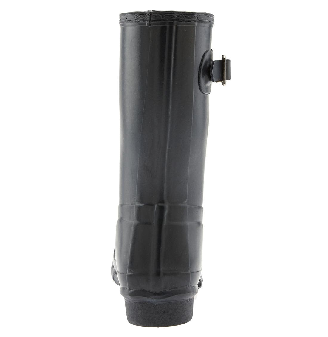 Original Short Gloss Waterproof Rain Boot,                             Alternate thumbnail 4, color,                             001