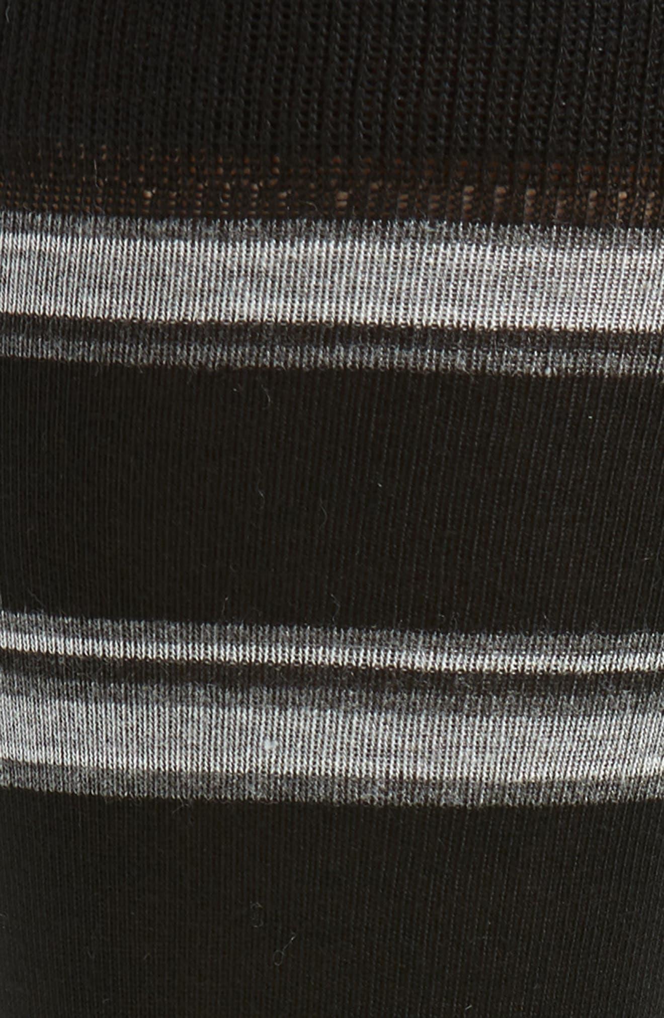 Alternating Rugby Stripe Socks,                             Alternate thumbnail 2, color,                             BLACK/ GREY