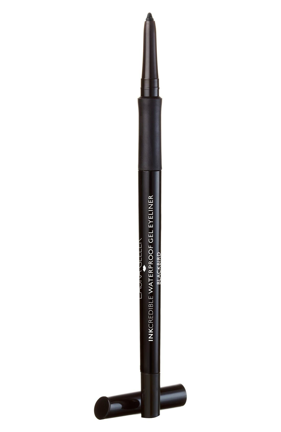 LAURA GELLER BEAUTY,                             INKcredible Gel Eyeliner Pencil,                             Main thumbnail 1, color,                             BLACKBIRD
