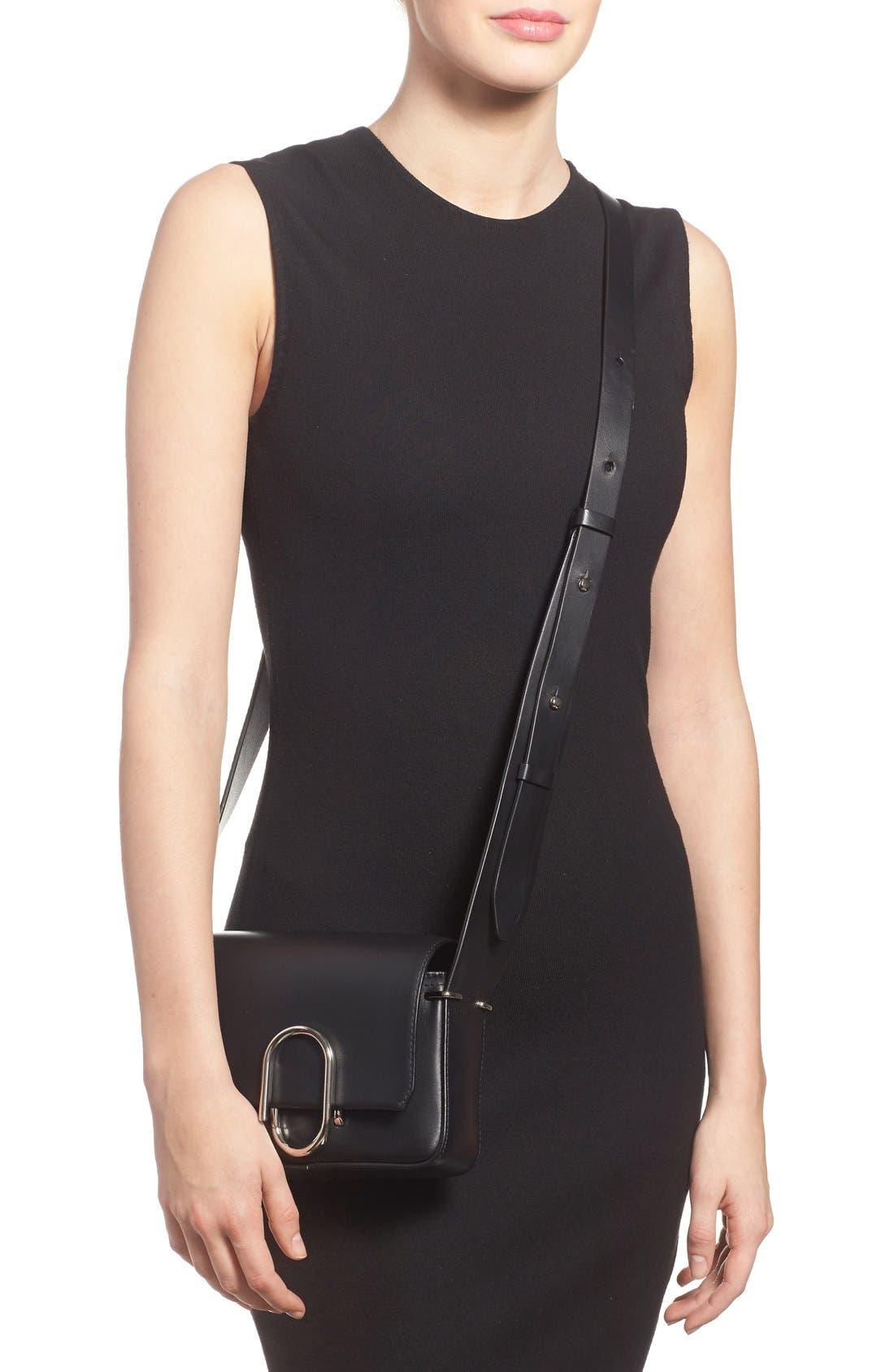'Mini Alix' Leather Shoulder Bag,                             Alternate thumbnail 6, color,