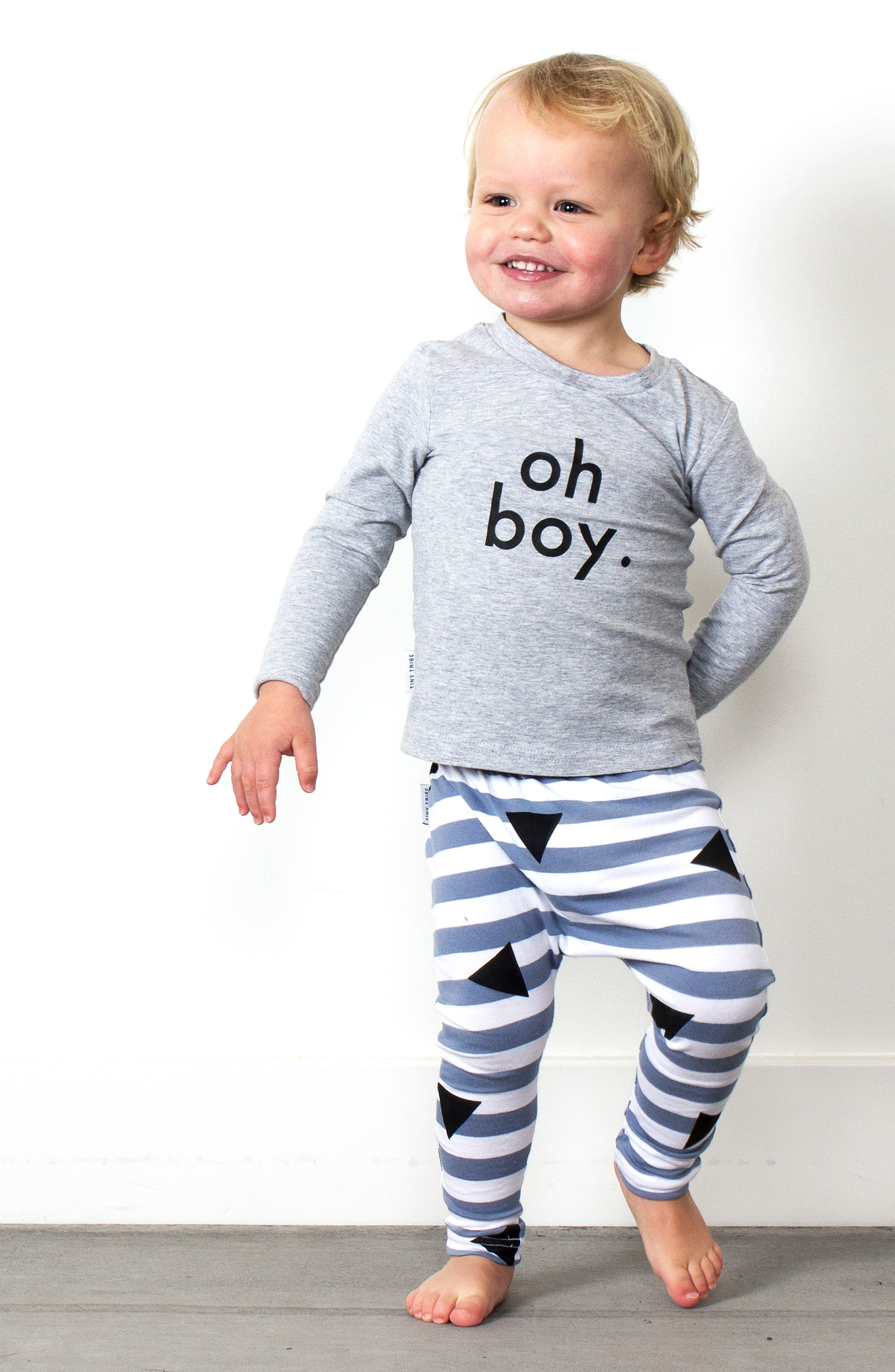 Oh Boy T-Shirt & Leggings Set,                             Alternate thumbnail 3, color,                             021