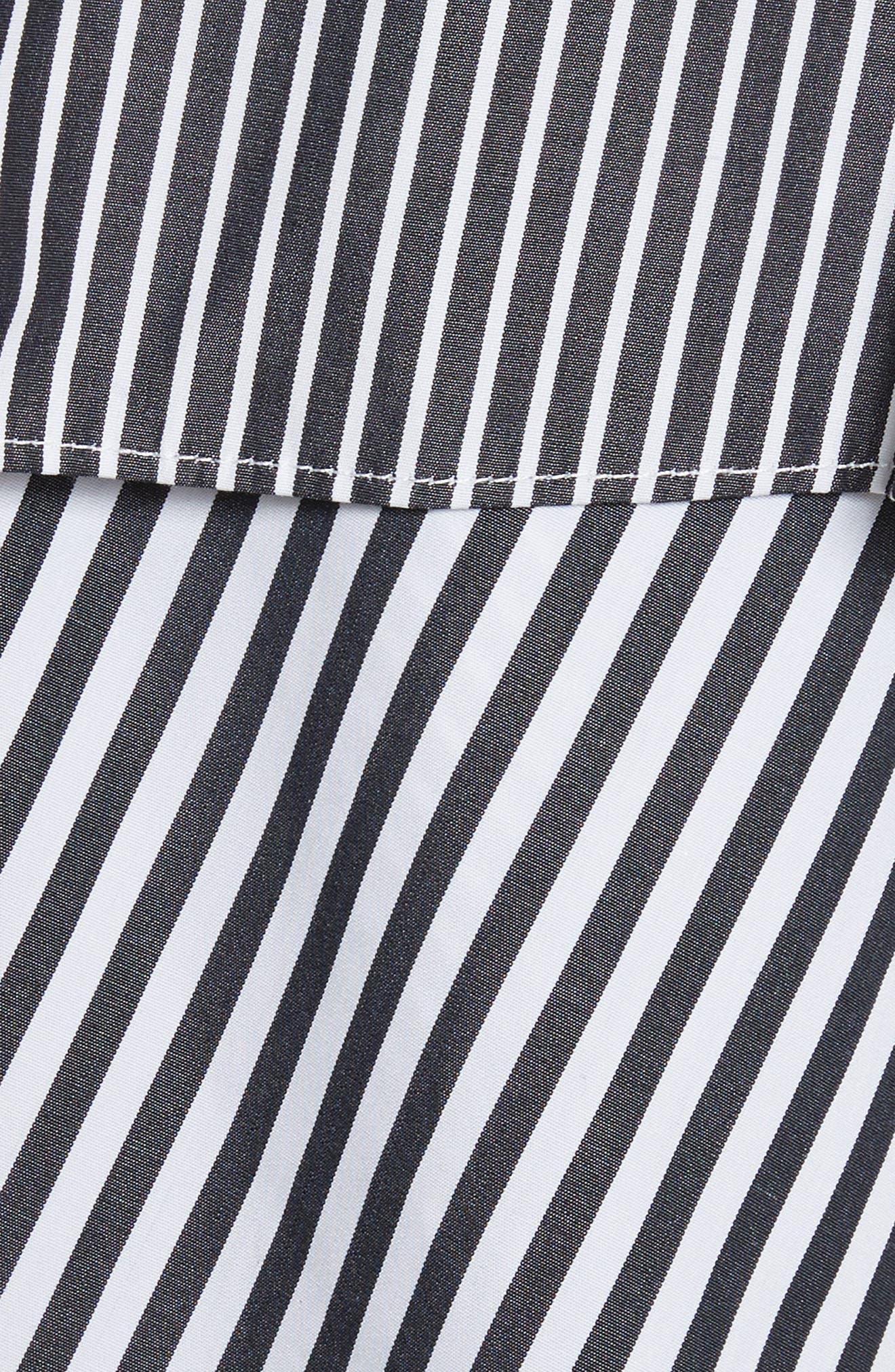 Emma Stripe Shirting Top,                             Alternate thumbnail 5, color,                             001