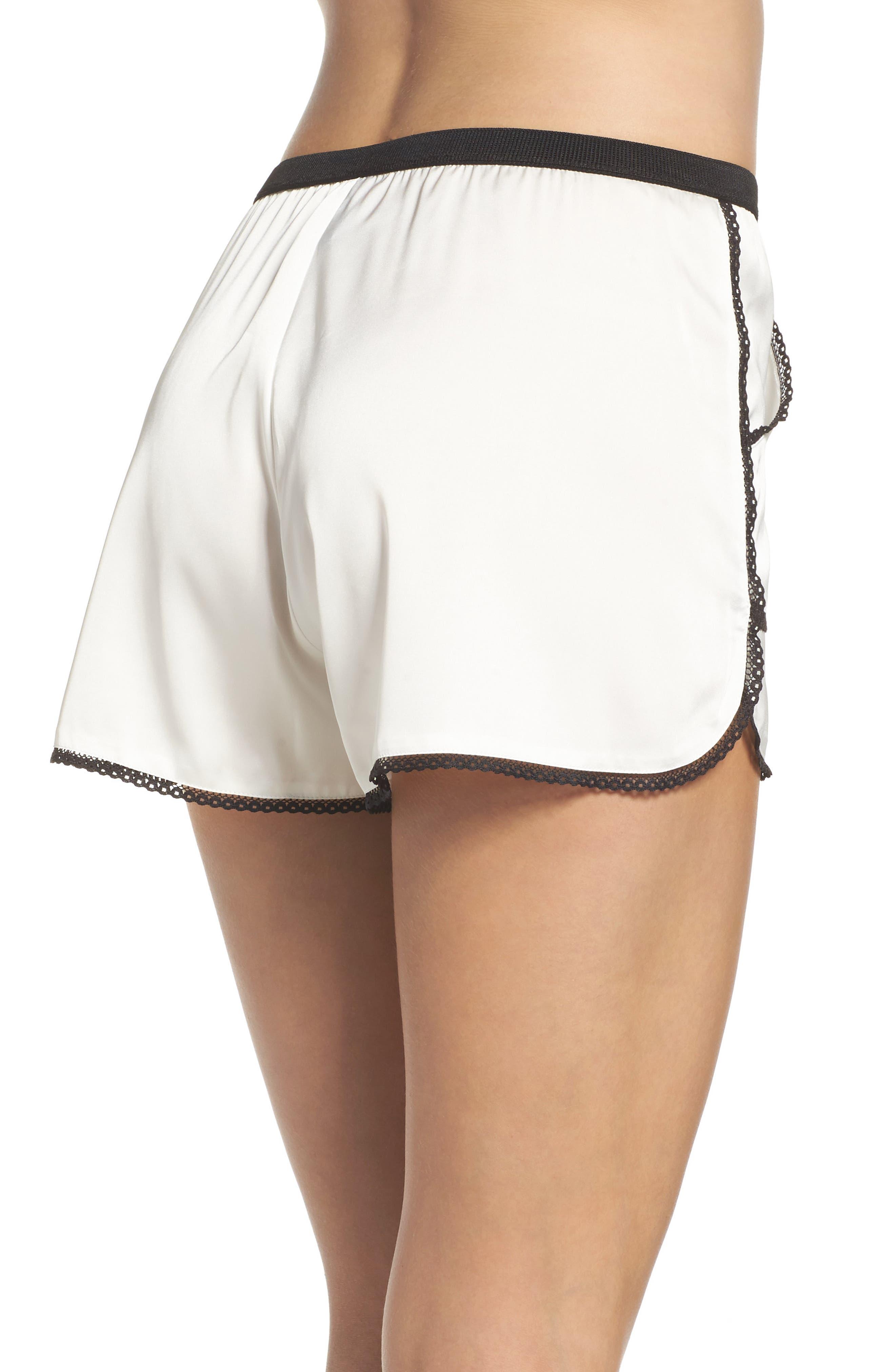 Thistle & Spire Devoe Satin Pajama Shorts,                             Alternate thumbnail 2, color,                             900