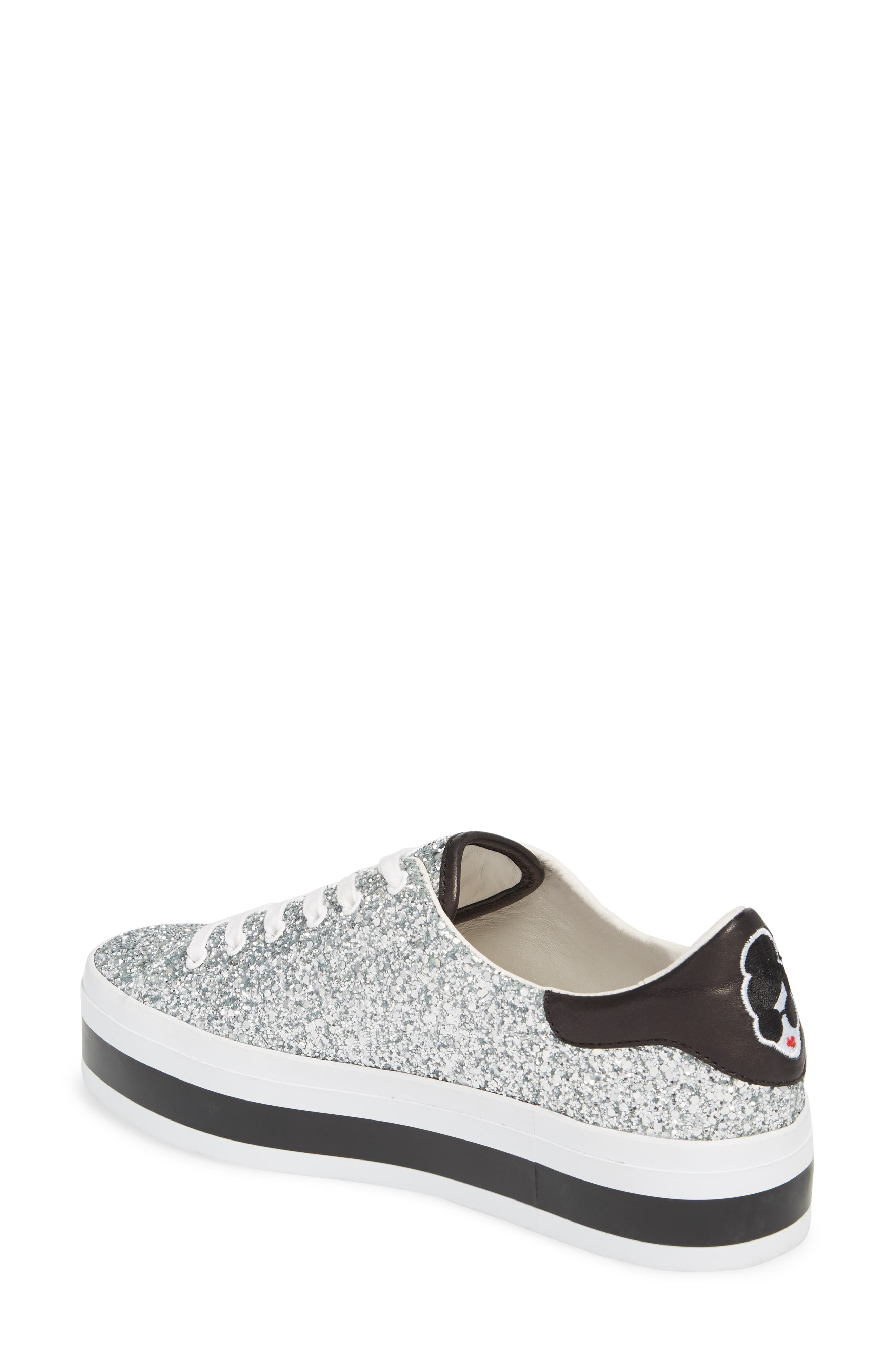 Ezra Flatform Sneaker,                             Alternate thumbnail 2, color,                             SILVER