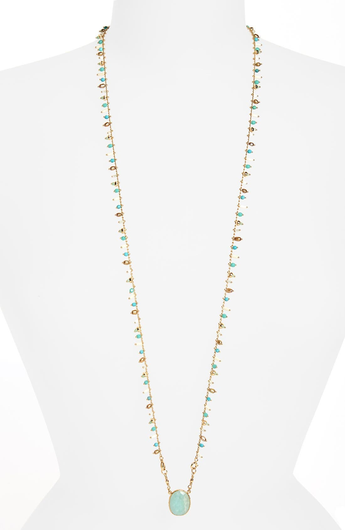 Scapulaire Convertible Semiprecious Stone Necklace,                             Alternate thumbnail 10, color,