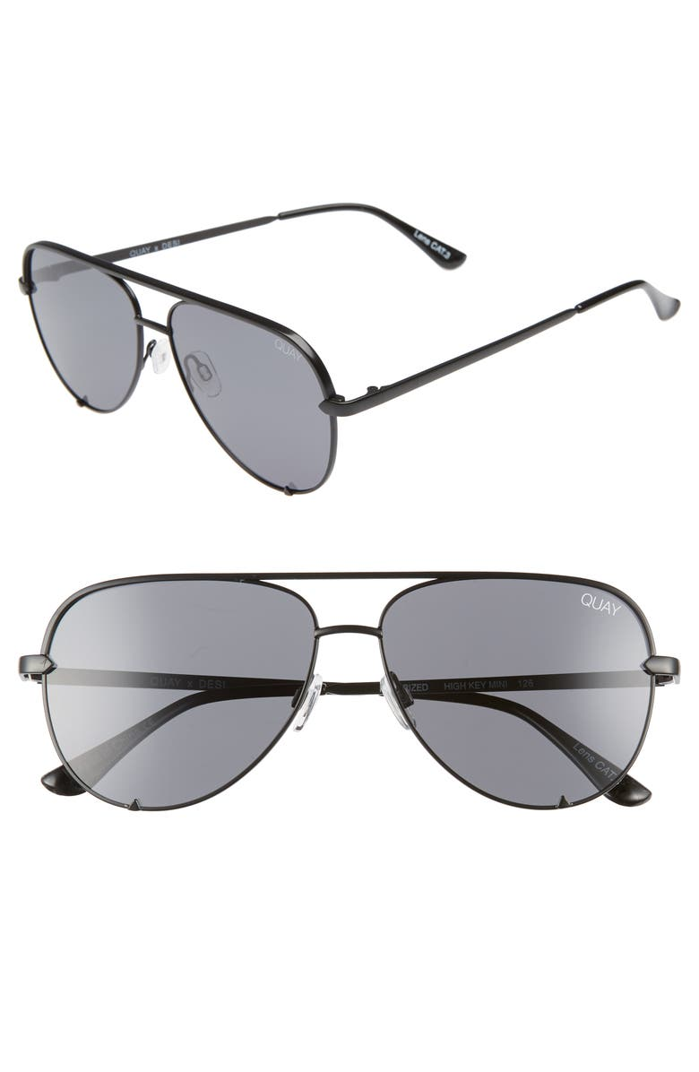 X Desi Perkins High Key 62mm Aviator Sunglasses Black Smoke