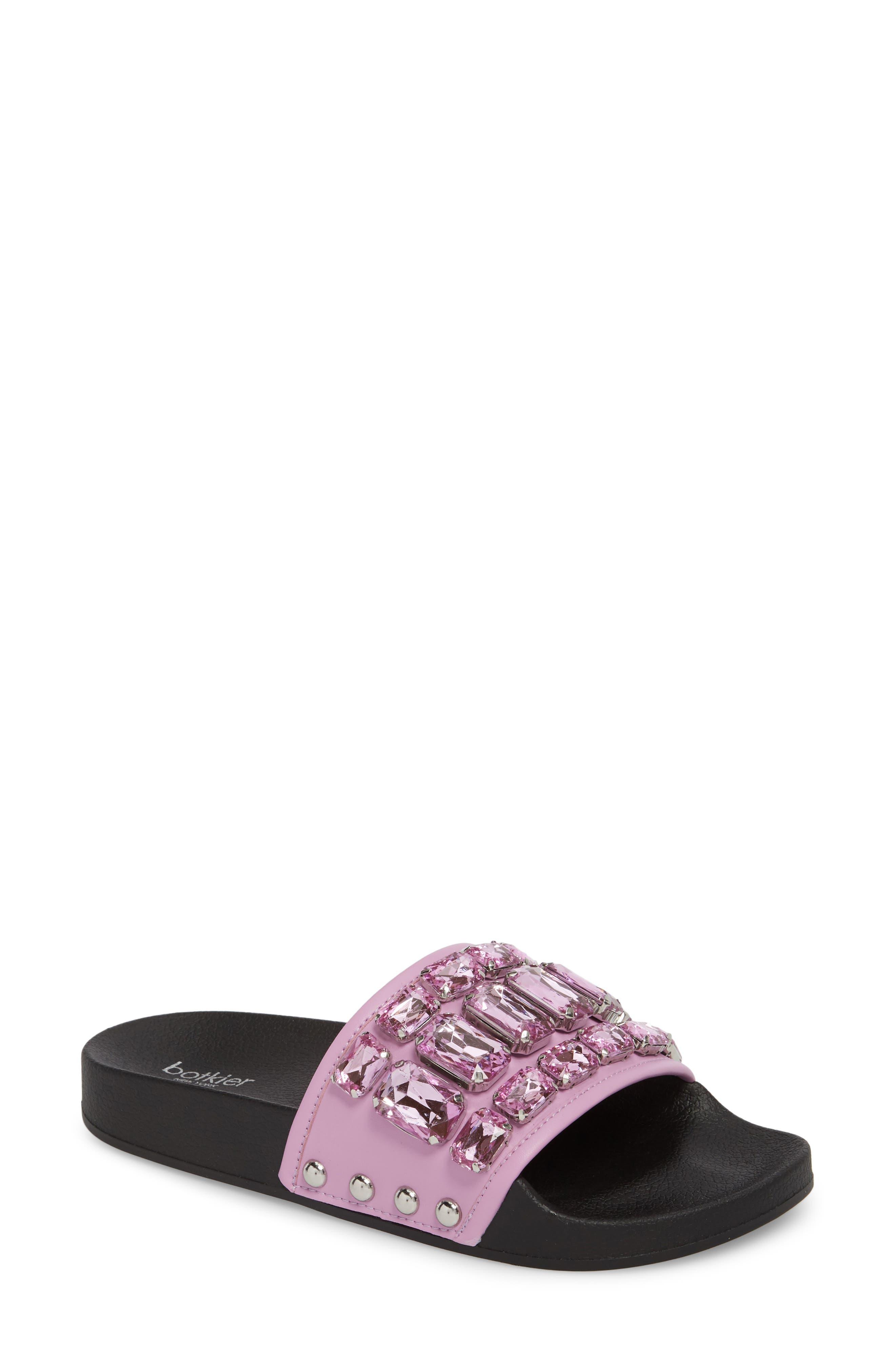 Botkier Freda Crystal Slide Sandal, Purple