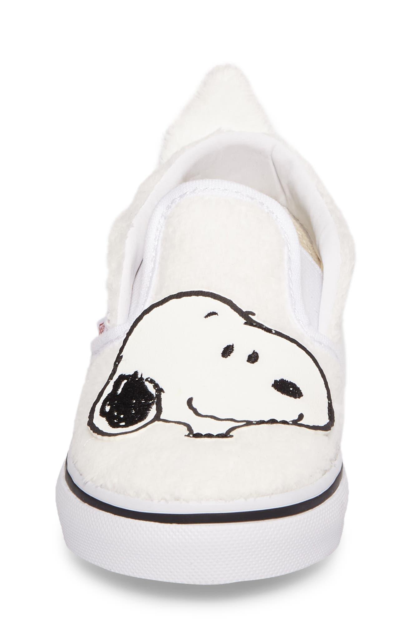 x Peanuts Slip-On Sneaker,                             Alternate thumbnail 4, color,                             100