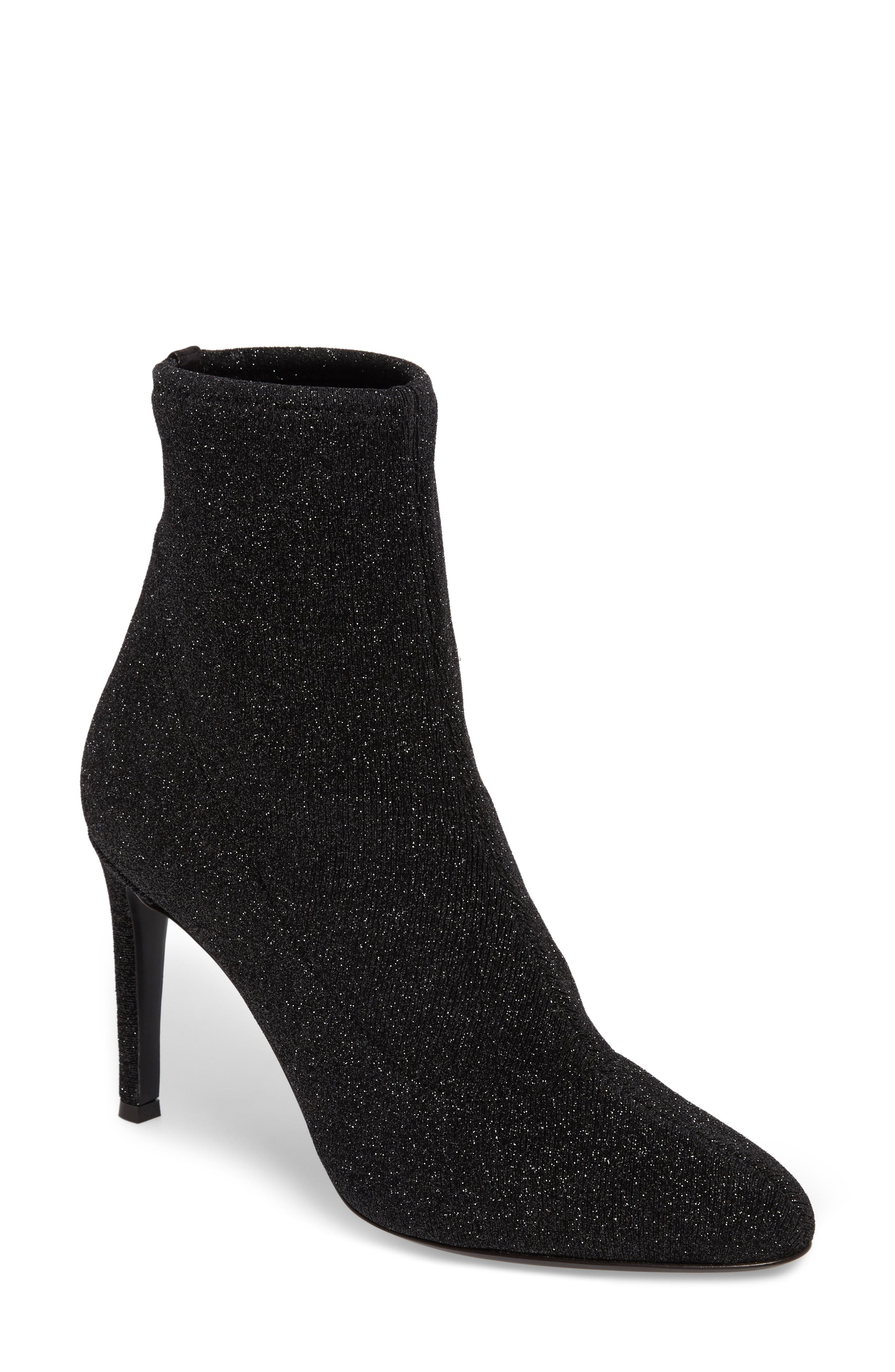 Glitter Lurex Bootie,                             Main thumbnail 1, color,                             001