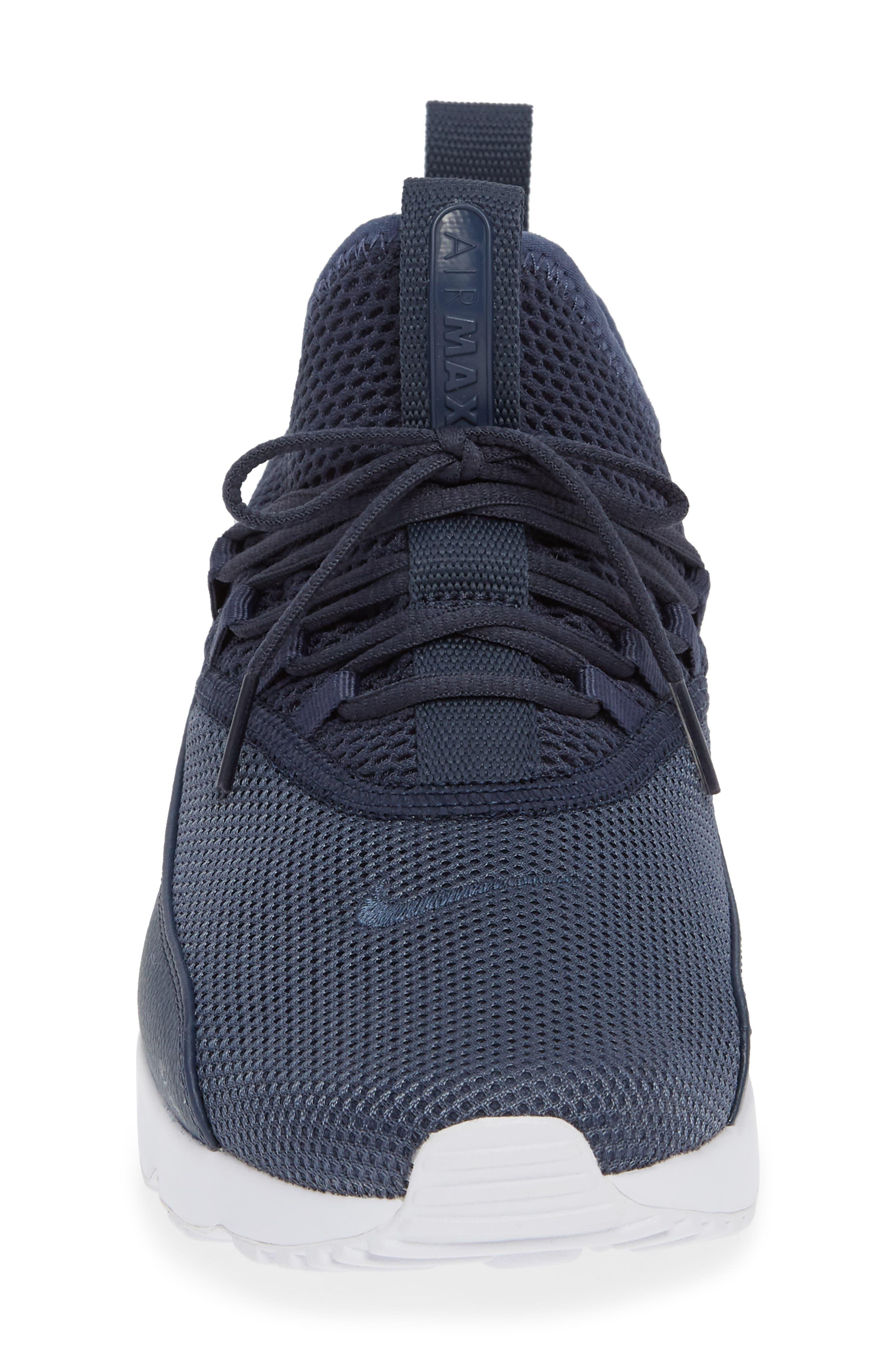 Air Max 90 EZ Sneaker,                             Alternate thumbnail 4, color,                             THUNDER BLUE/ WHITE