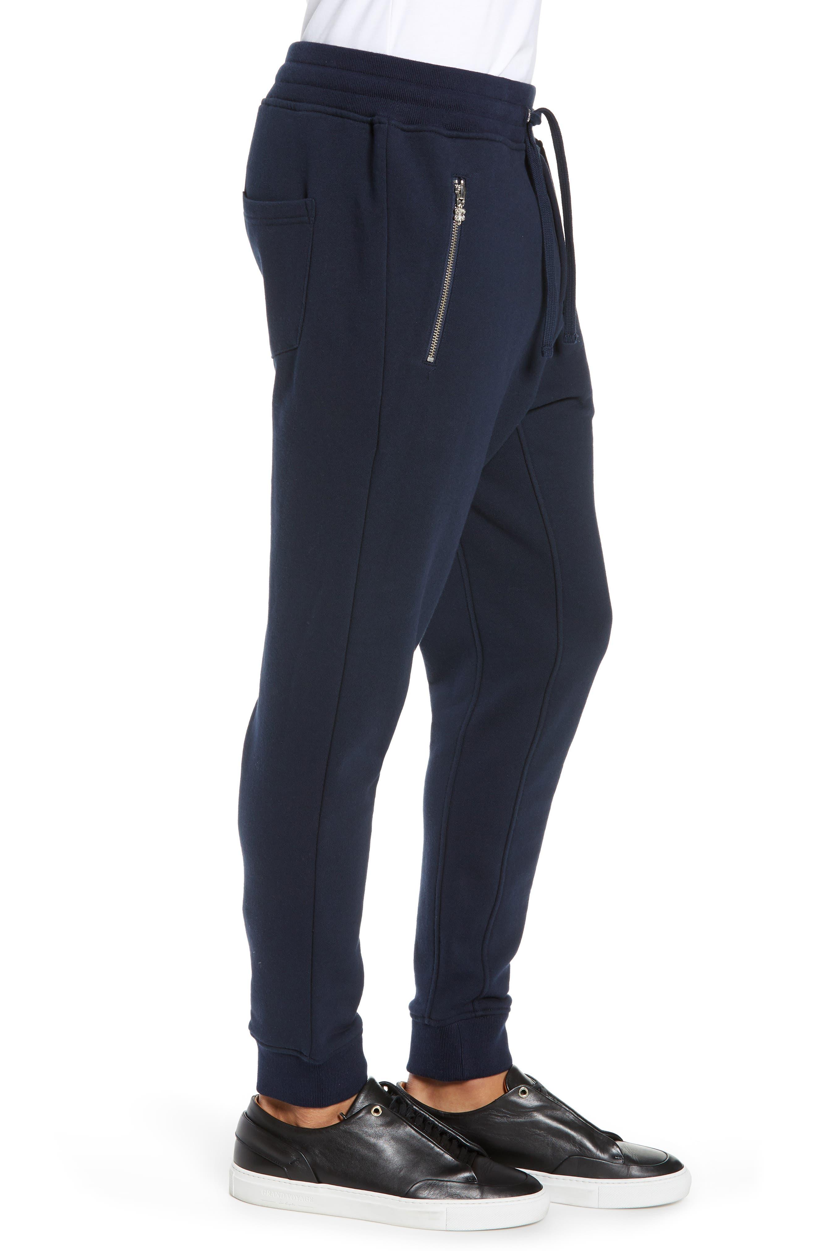 Slim Fit Jogger Pants,                             Alternate thumbnail 3, color,                             NAVY