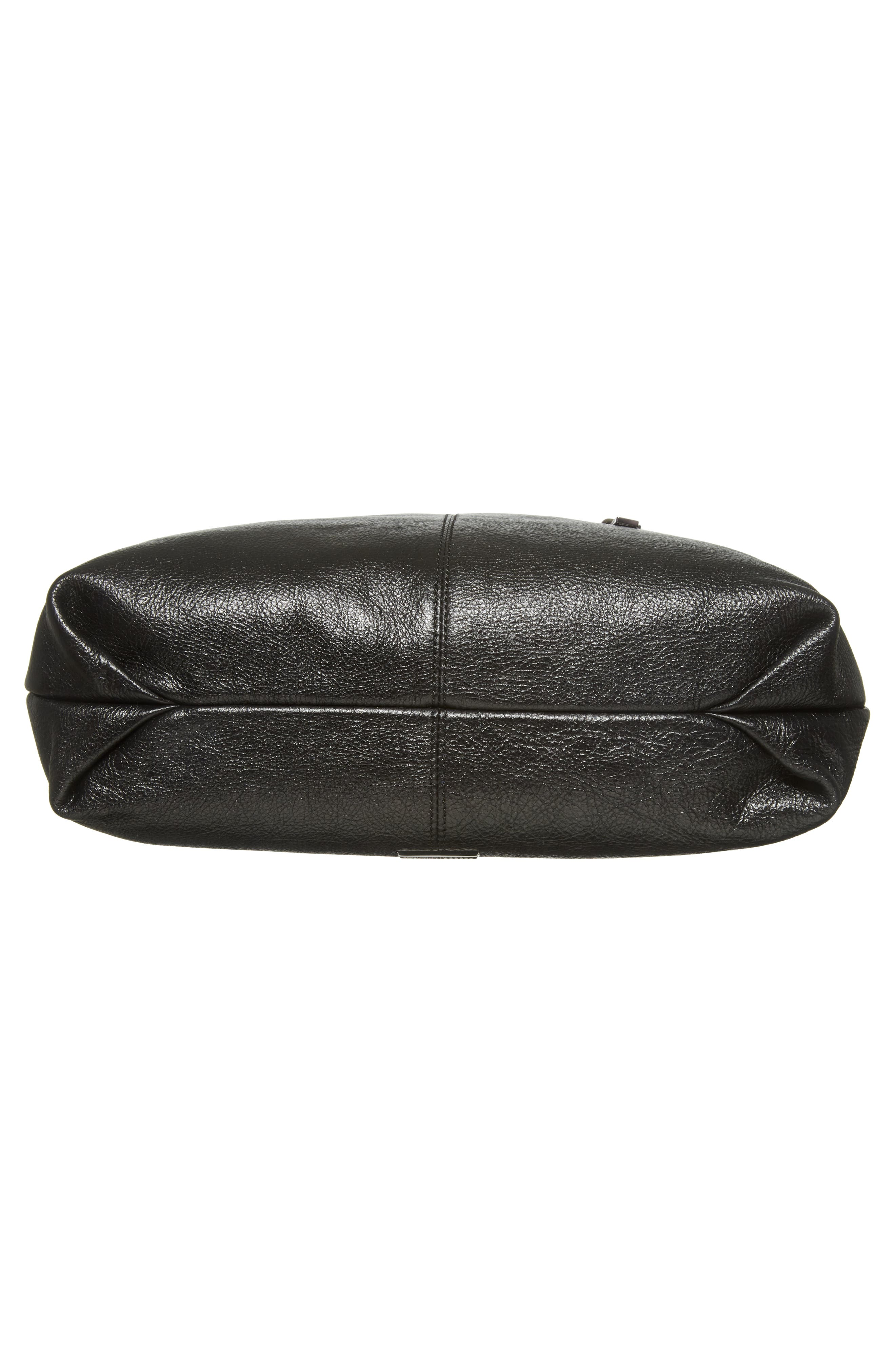 Large Jamie Convertible Leather Hobo,                             Alternate thumbnail 7, color,                             001