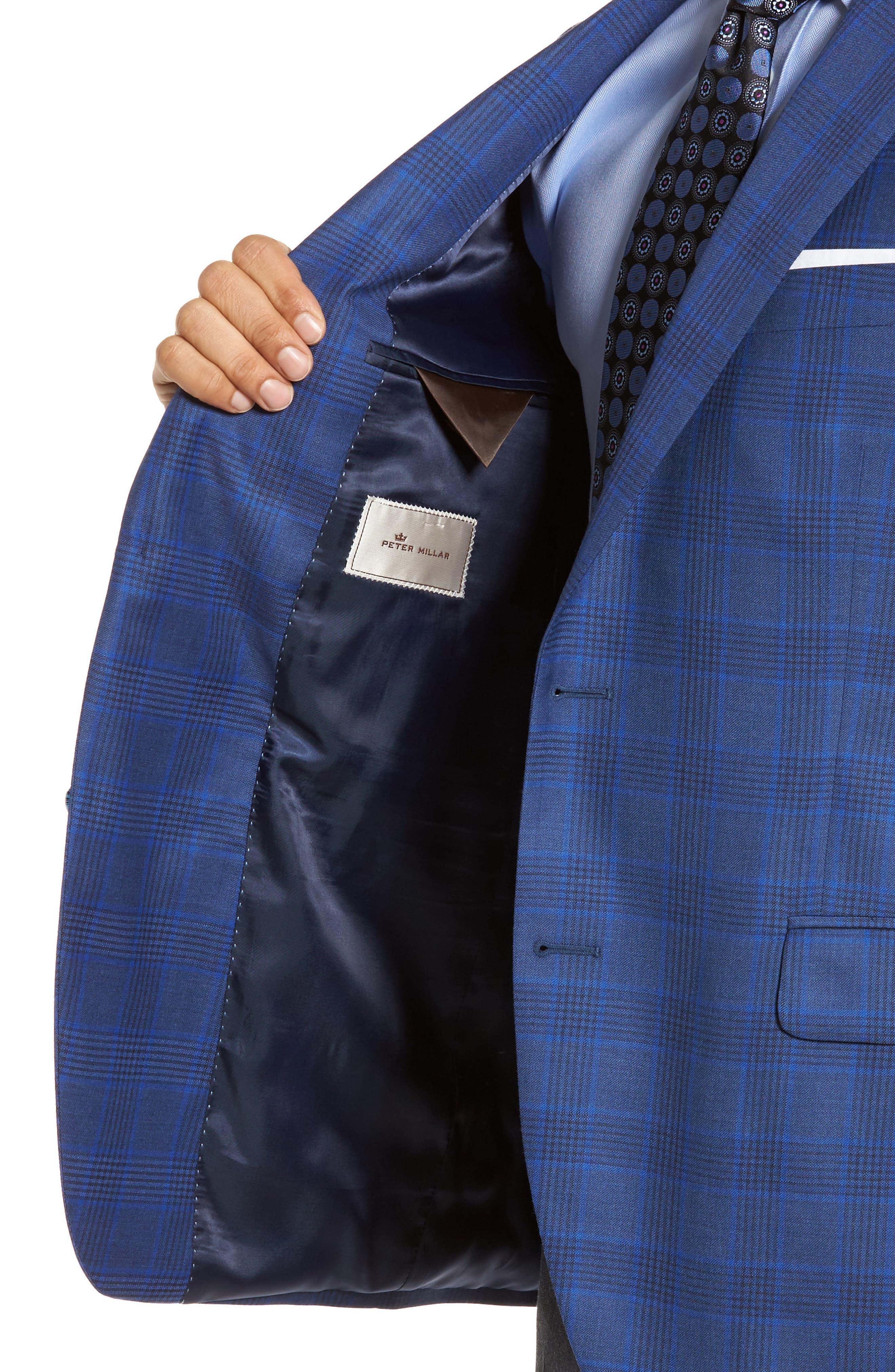 Classic Fit Plaid Wool Sport Coat,                             Alternate thumbnail 4, color,