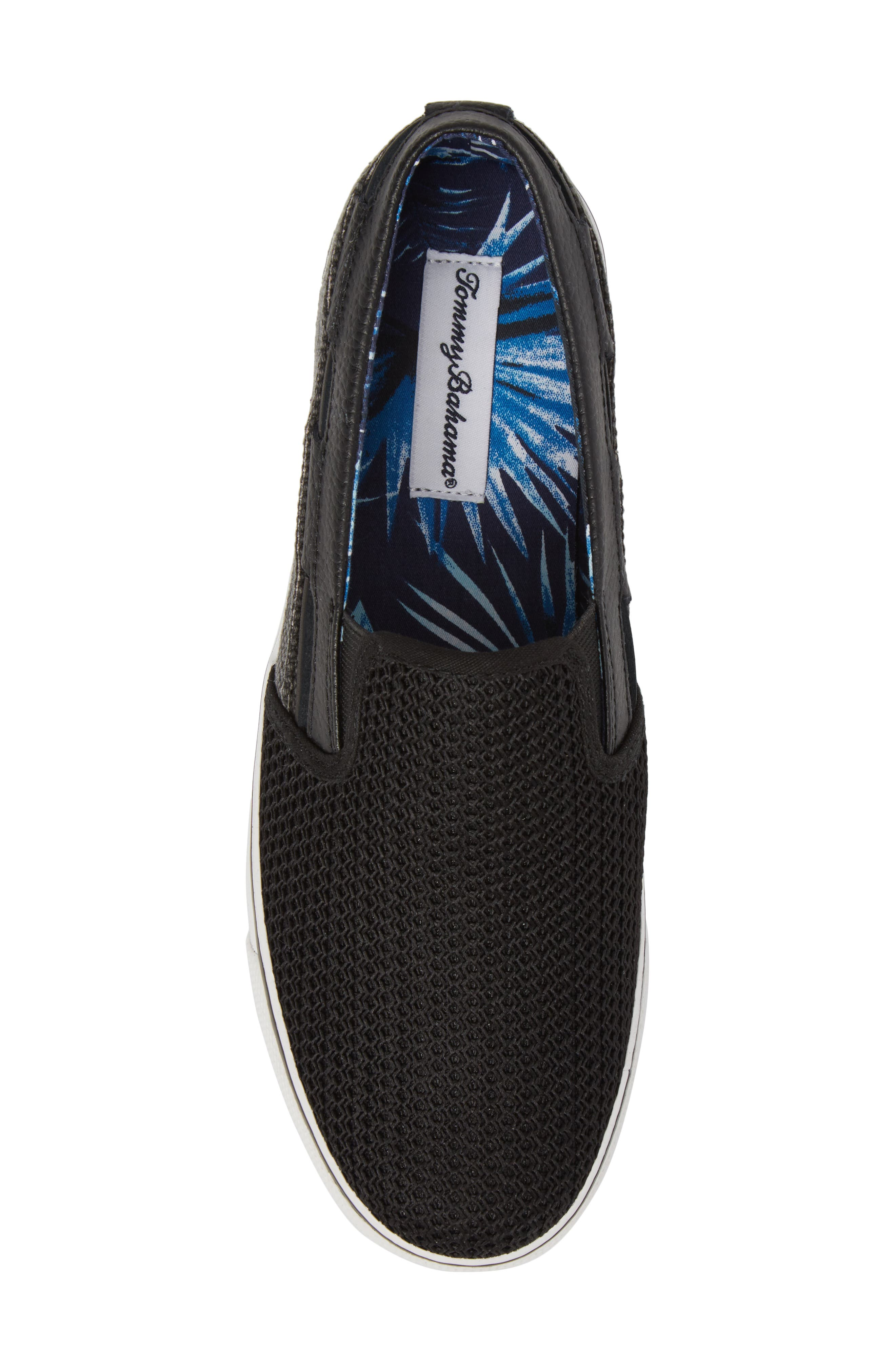 Exodus Mesh Slip-On Sneaker,                             Alternate thumbnail 5, color,                             BLACK MESH/ TEXTILE