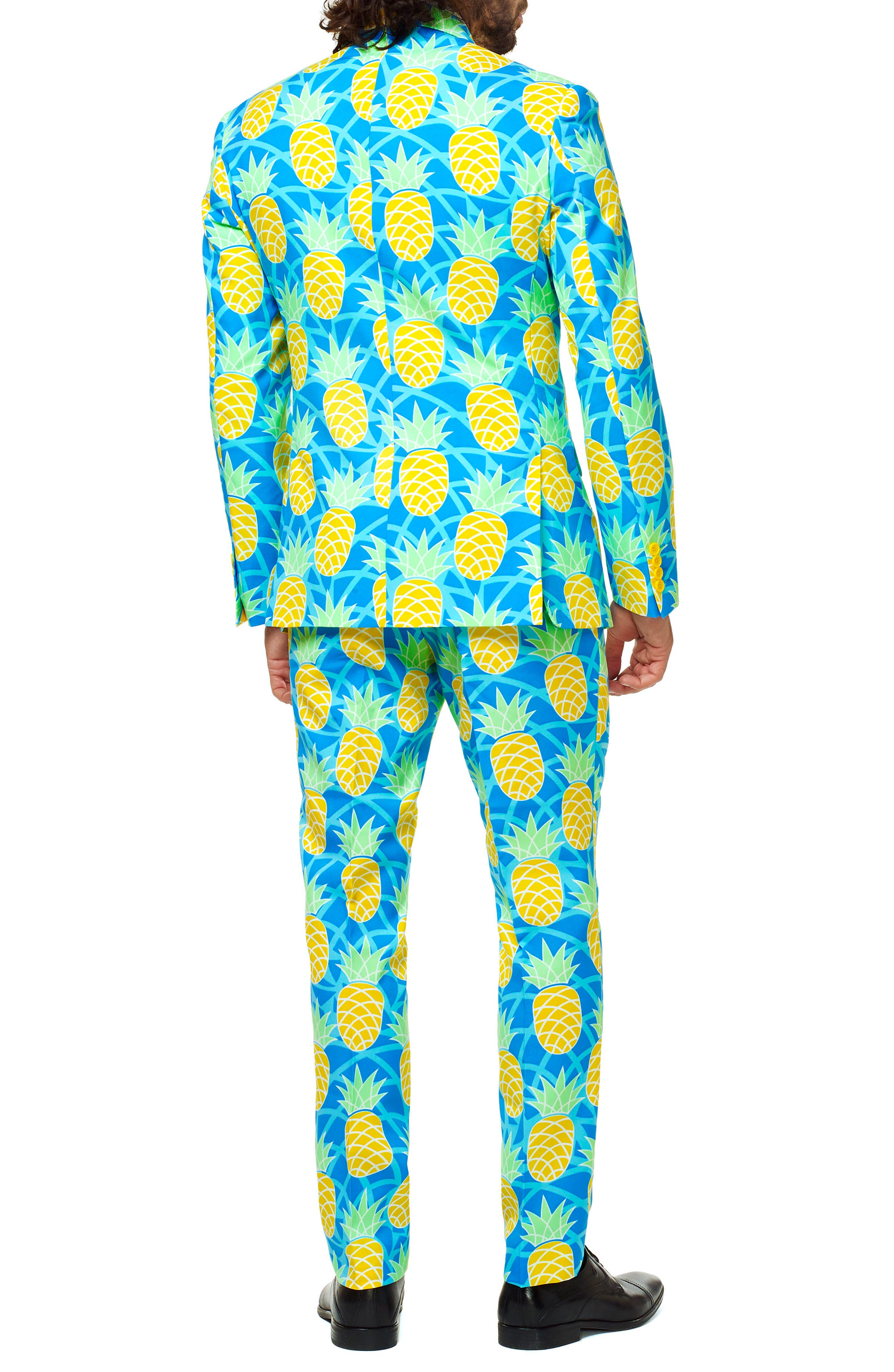 Summer Shineapple Trim Fit Two-Piece Suit with Tie,                             Alternate thumbnail 2, color,                             400
