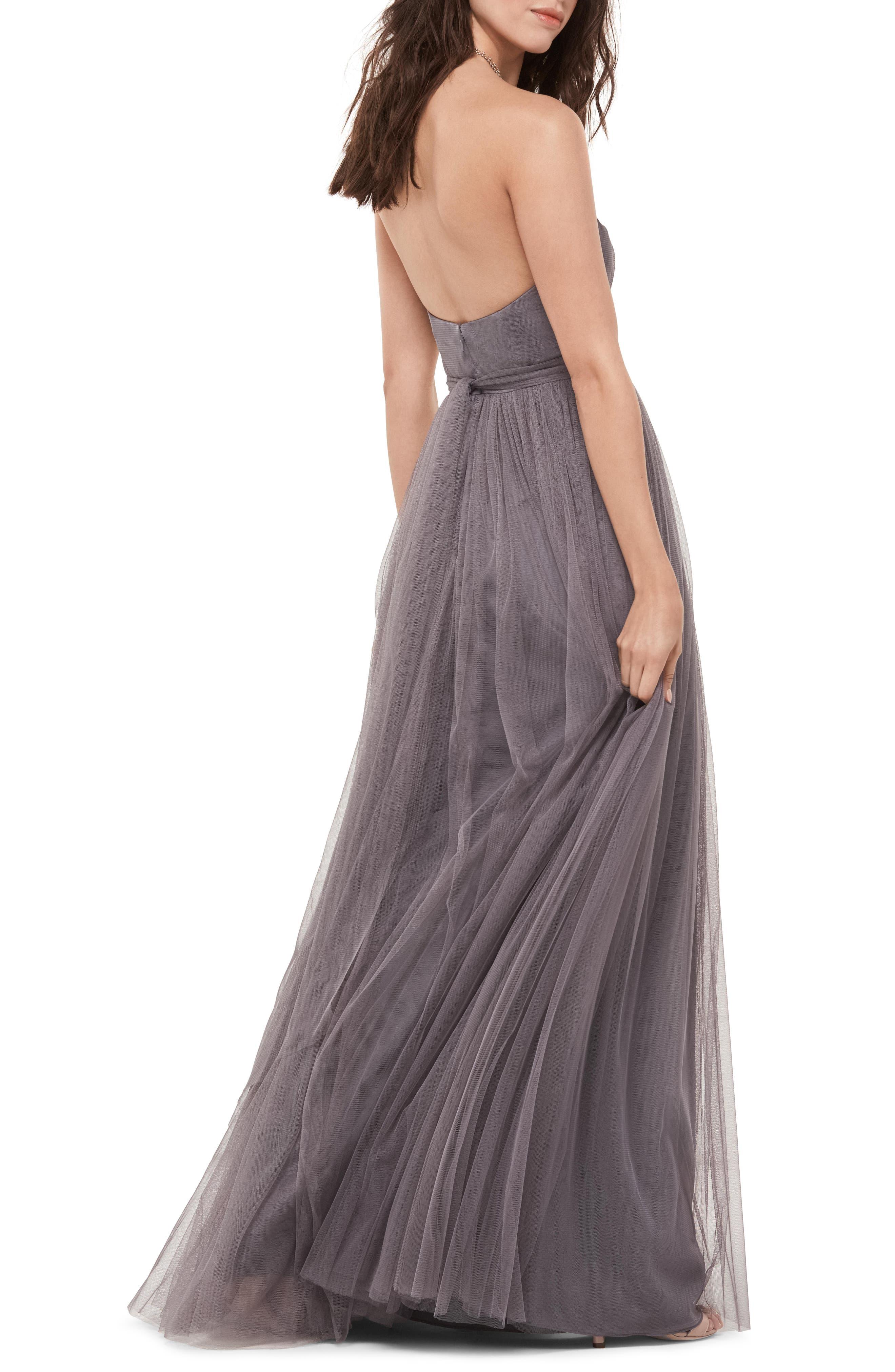 Bobbinet Strapless Gown,                             Alternate thumbnail 2, color,                             030