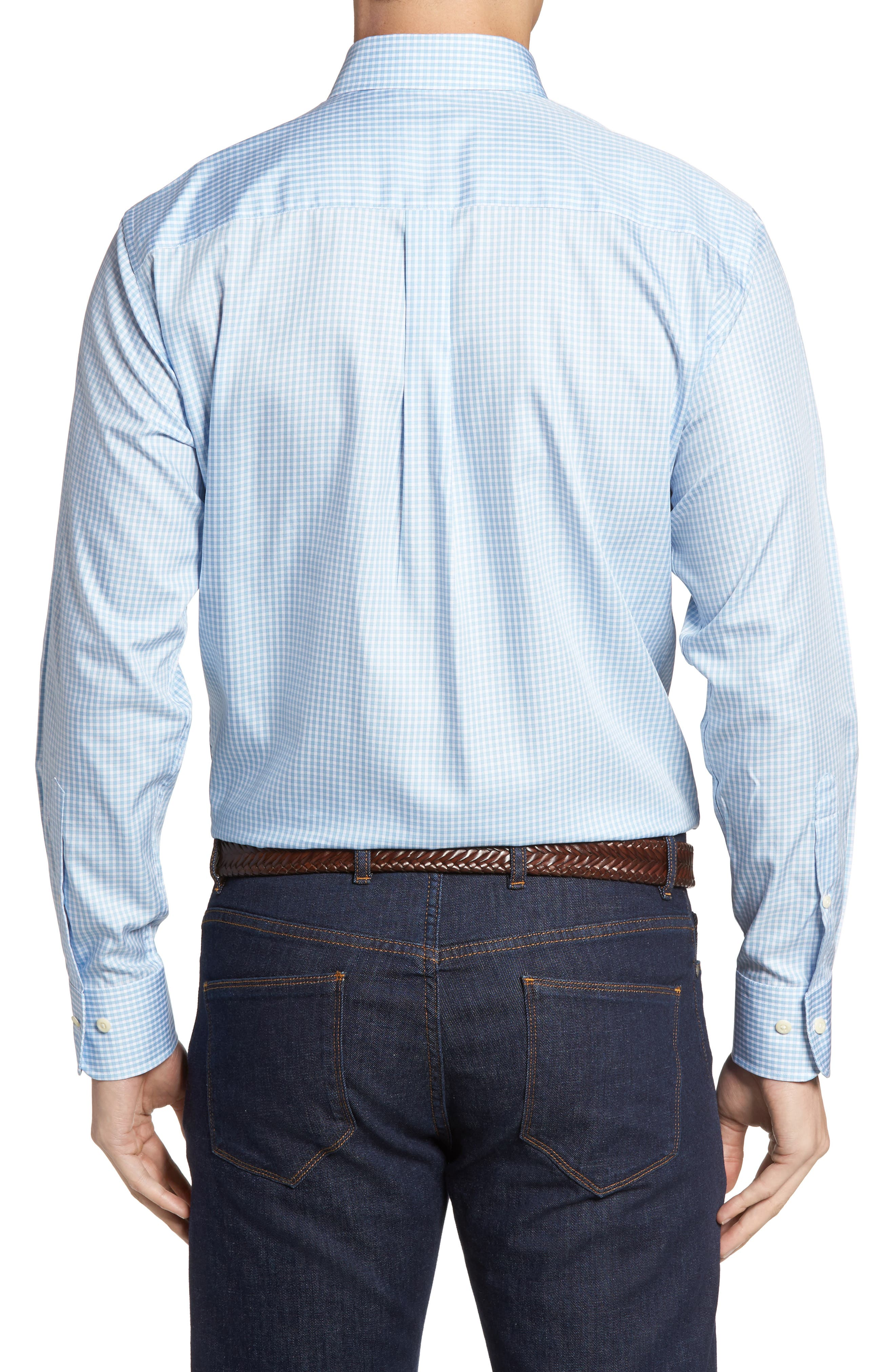 Crown Soft Gingham Regular Fit Sport Shirt,                             Alternate thumbnail 11, color,