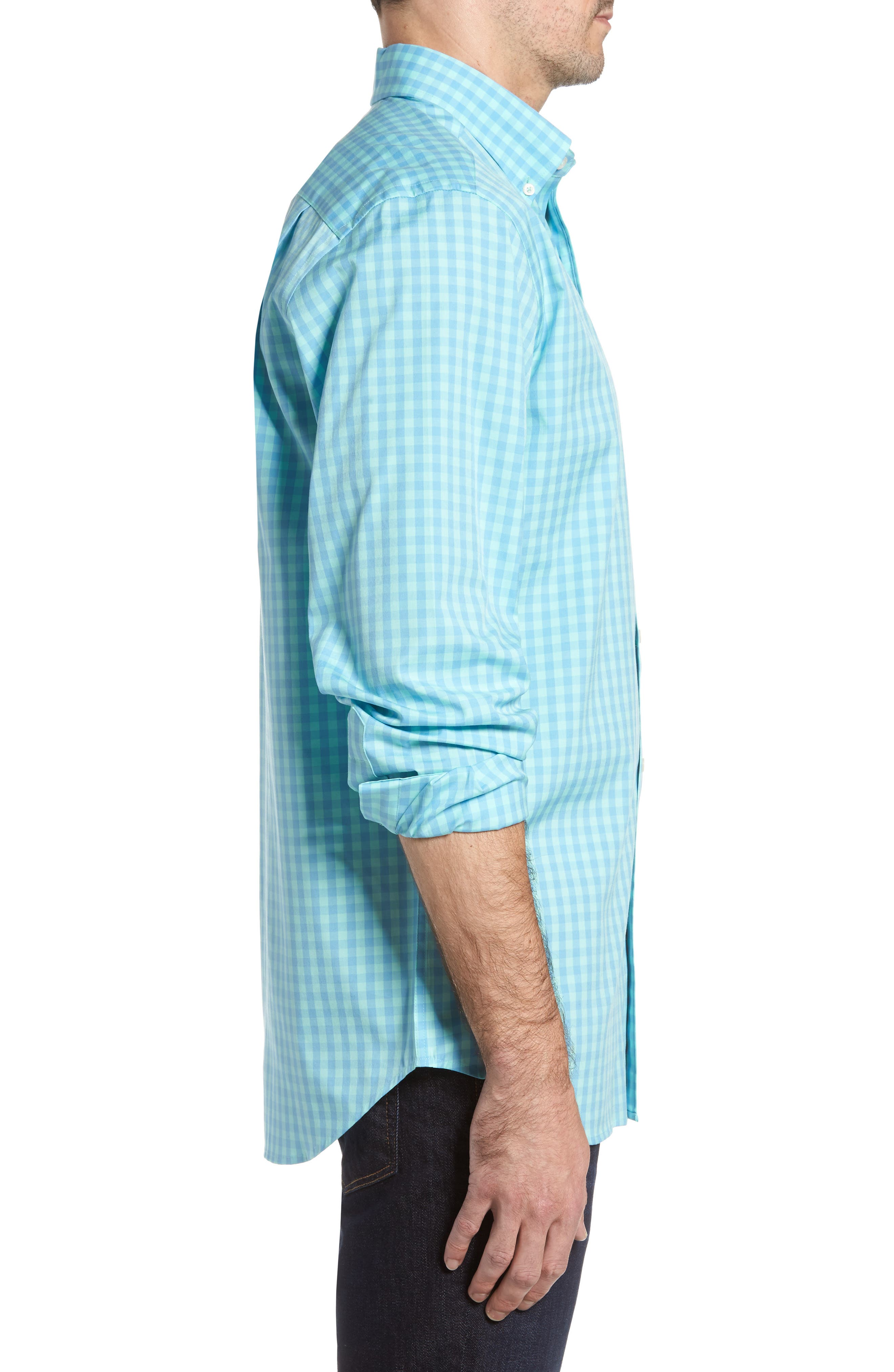 Getaway Gingham Classic Fit Sport Shirt,                             Alternate thumbnail 3, color,                             476