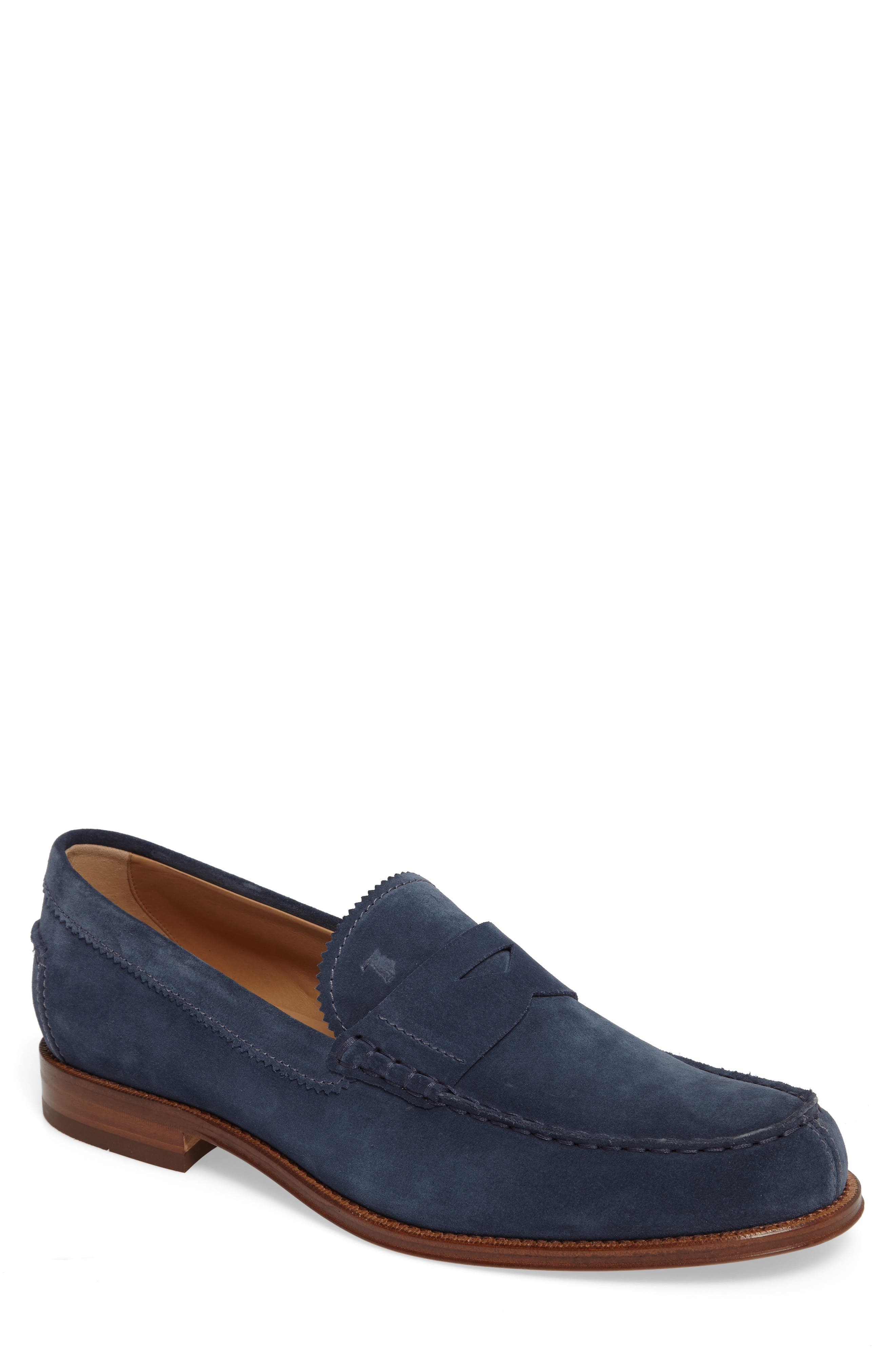 Suede Penny Loafer,                             Main thumbnail 2, color,