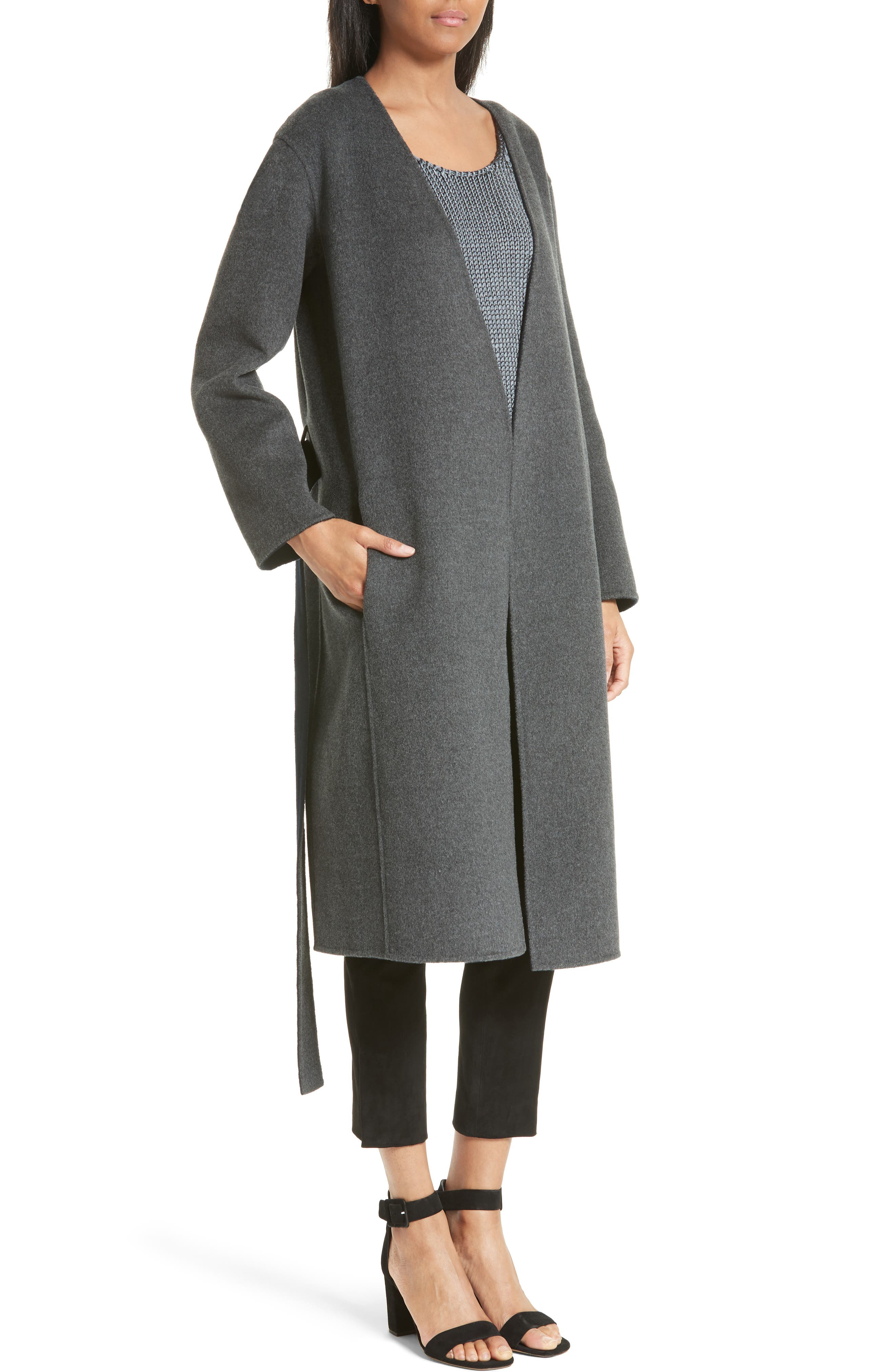 Reversible Wool & Cashmere Belted Coat,                             Alternate thumbnail 2, color,                             464