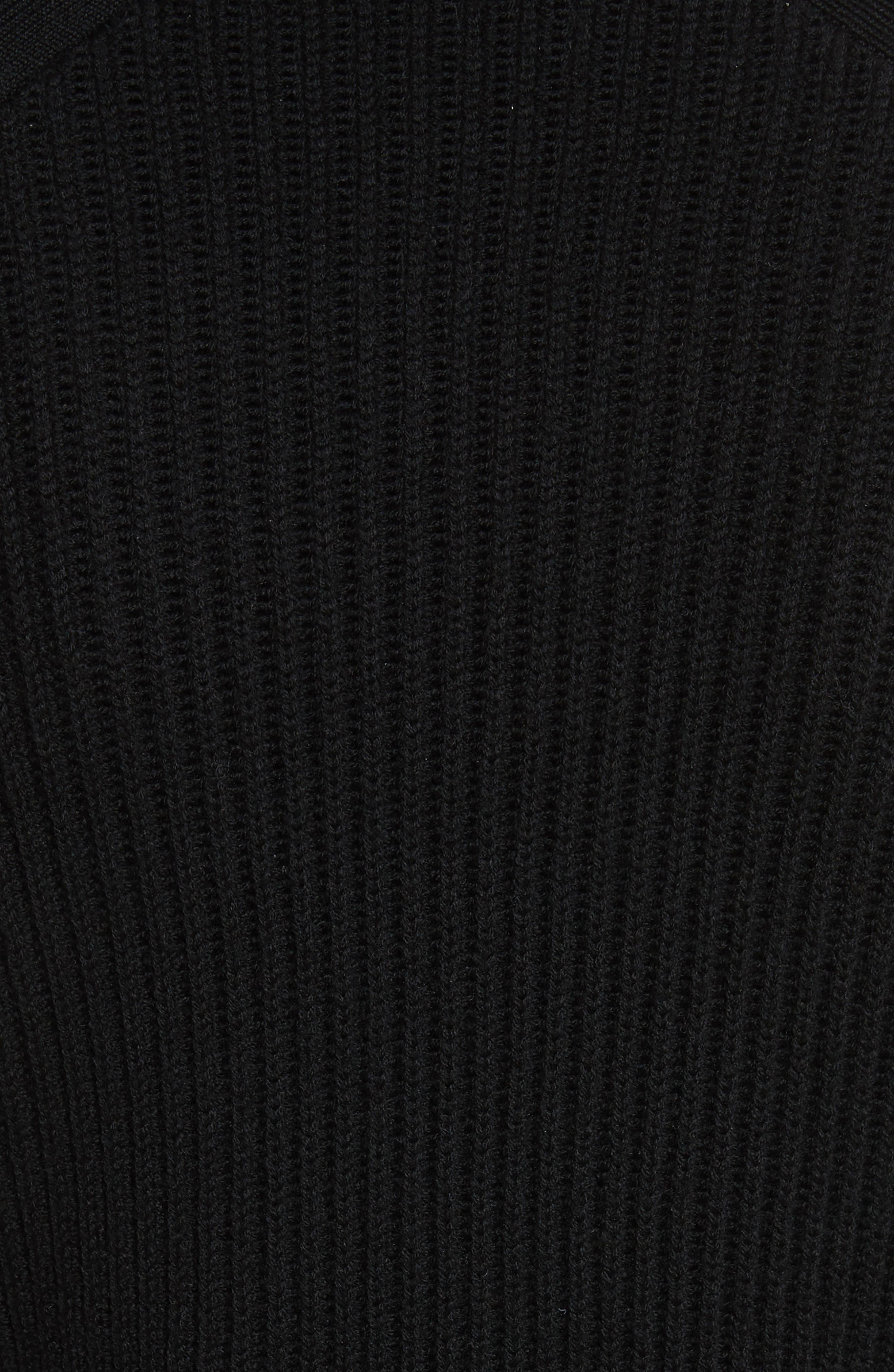 Jude Leg of Mutton Sleeve Sweater,                             Alternate thumbnail 5, color,                             001