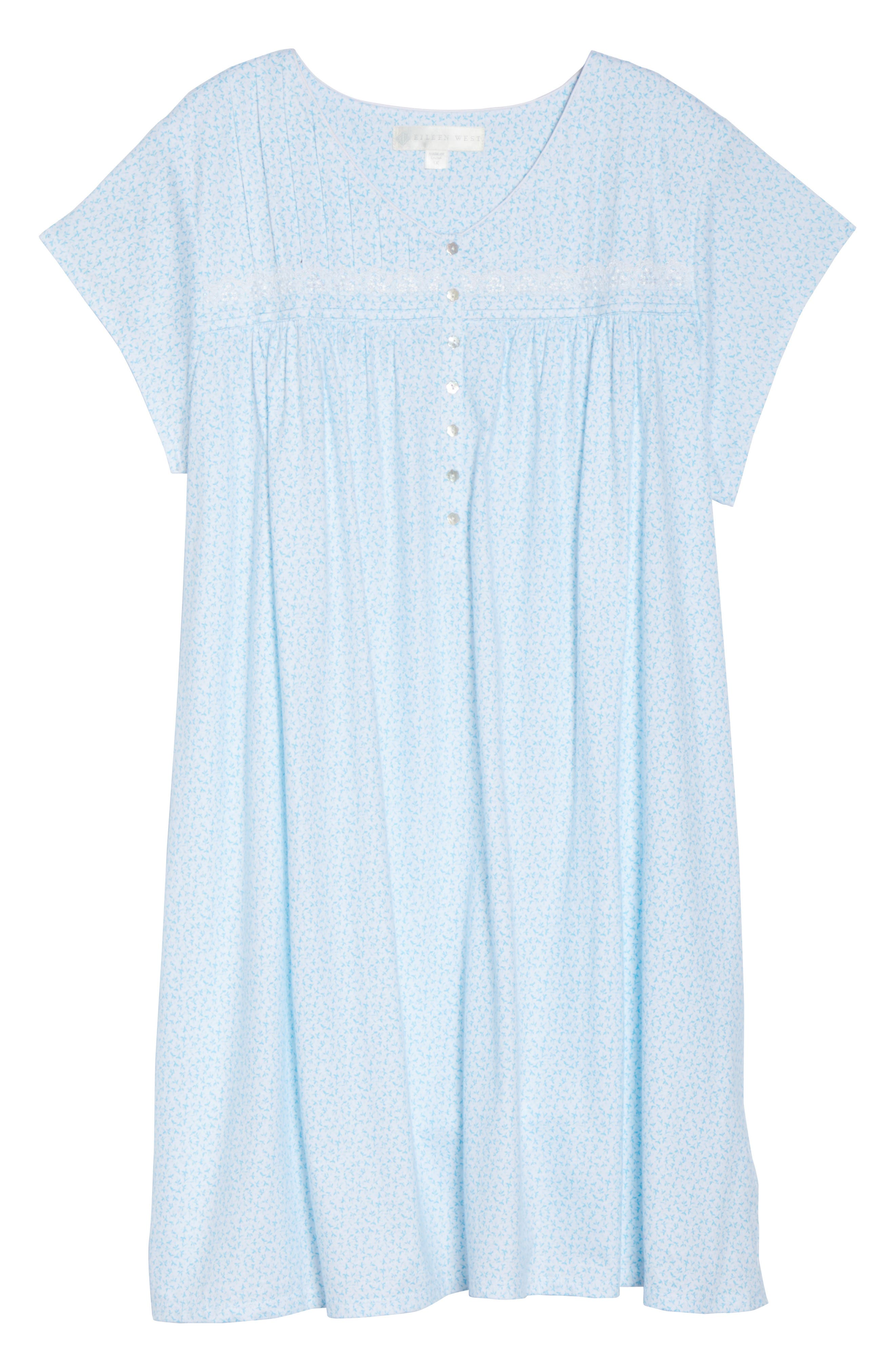 Short Nightgown,                             Alternate thumbnail 6, color,                             100