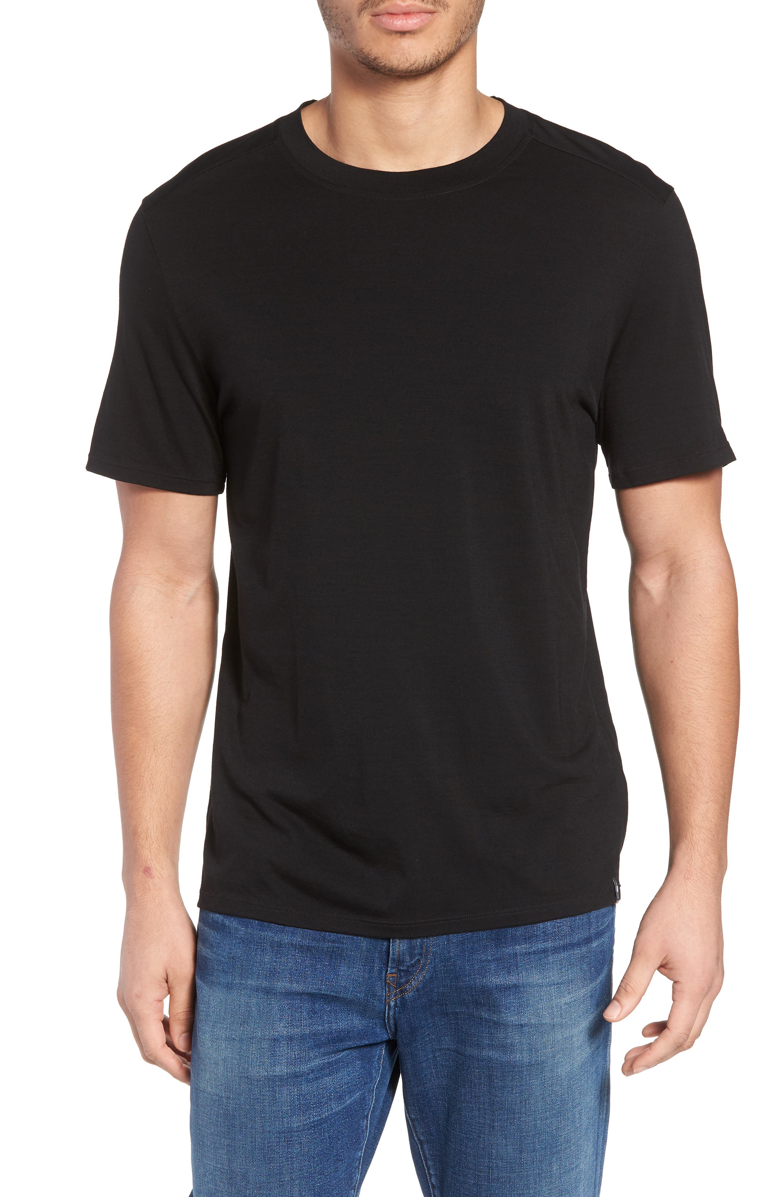 Merino 150 Wool Blend T-Shirt,                         Main,                         color, 001