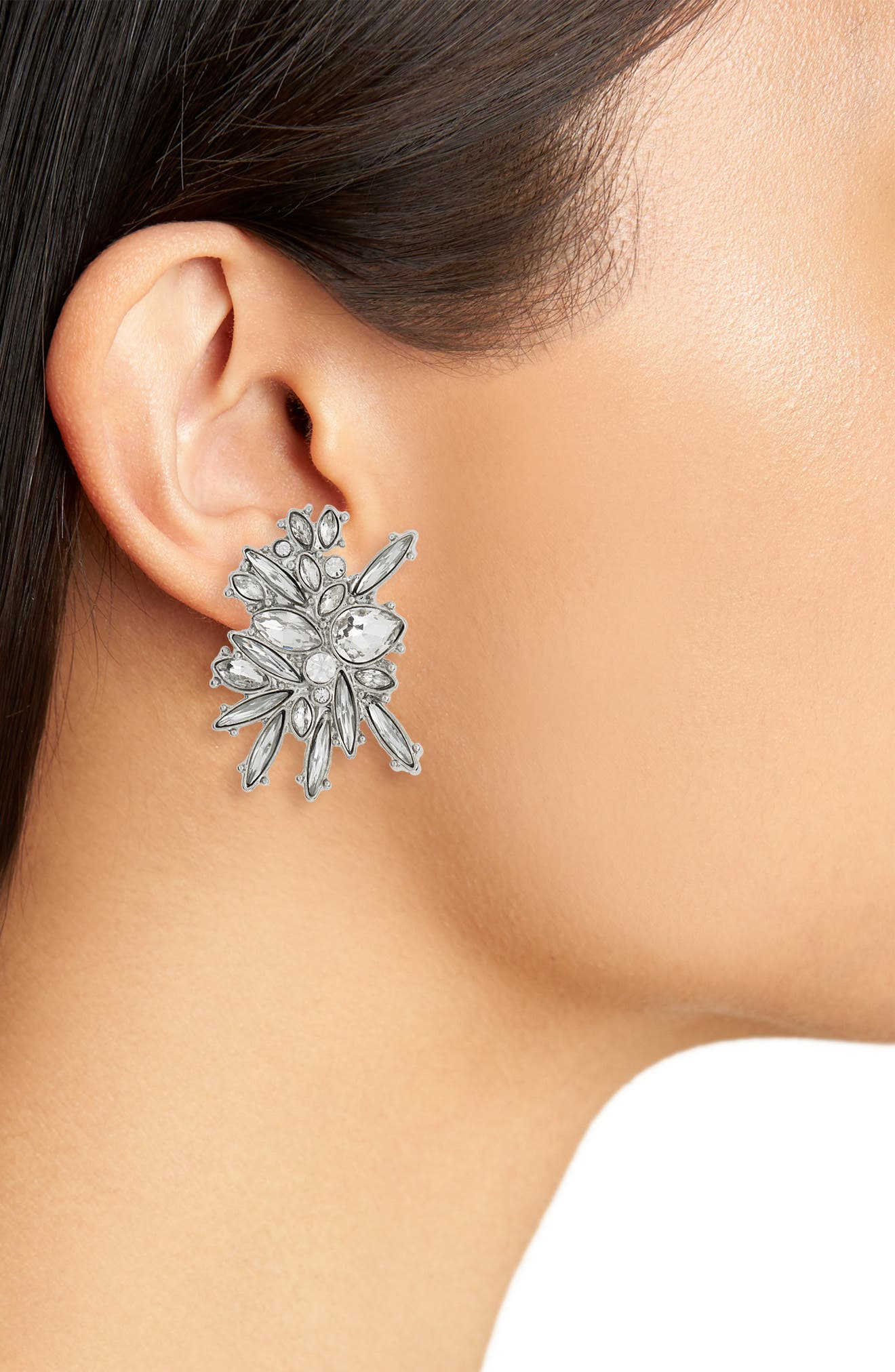 Titania Crystal Stud Earrings,                             Alternate thumbnail 2, color,                             710