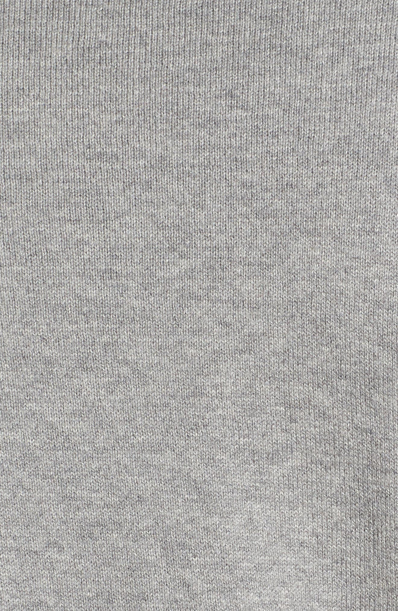 Saddle Shoulder Cotton & Cashmere V-Neck Sweater,                             Alternate thumbnail 36, color,